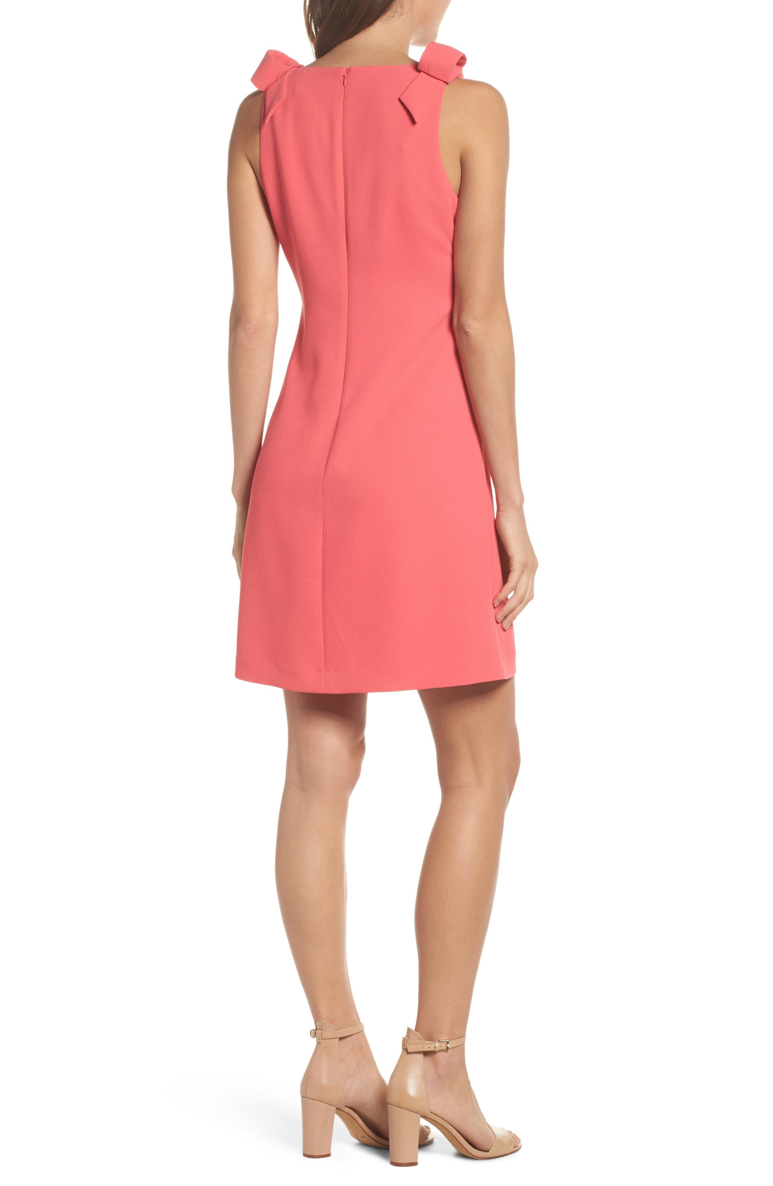 Bow Sheath Dress,                             Alternate thumbnail 4, color,