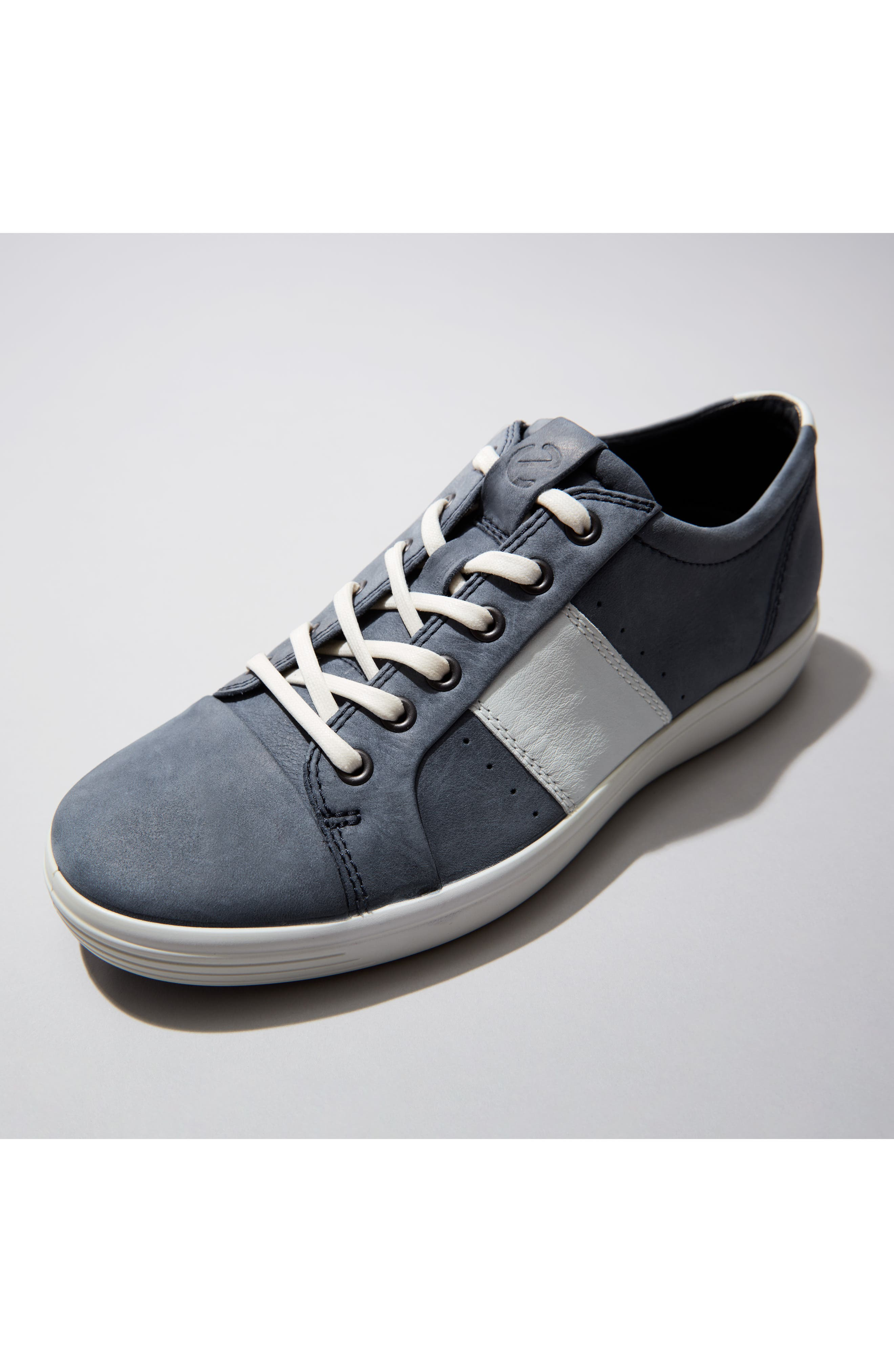 ECCO,                             Soft VII Lace-Up Sneaker,                             Alternate thumbnail 11, color,                             GREY OILED NUBUCK
