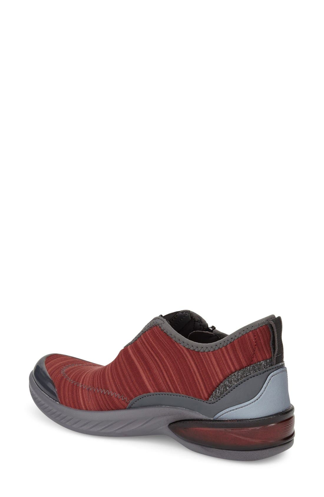 Nova Midi Sneaker,                             Alternate thumbnail 2, color,                             DARK RED LINEAR HEATHER FABRIC