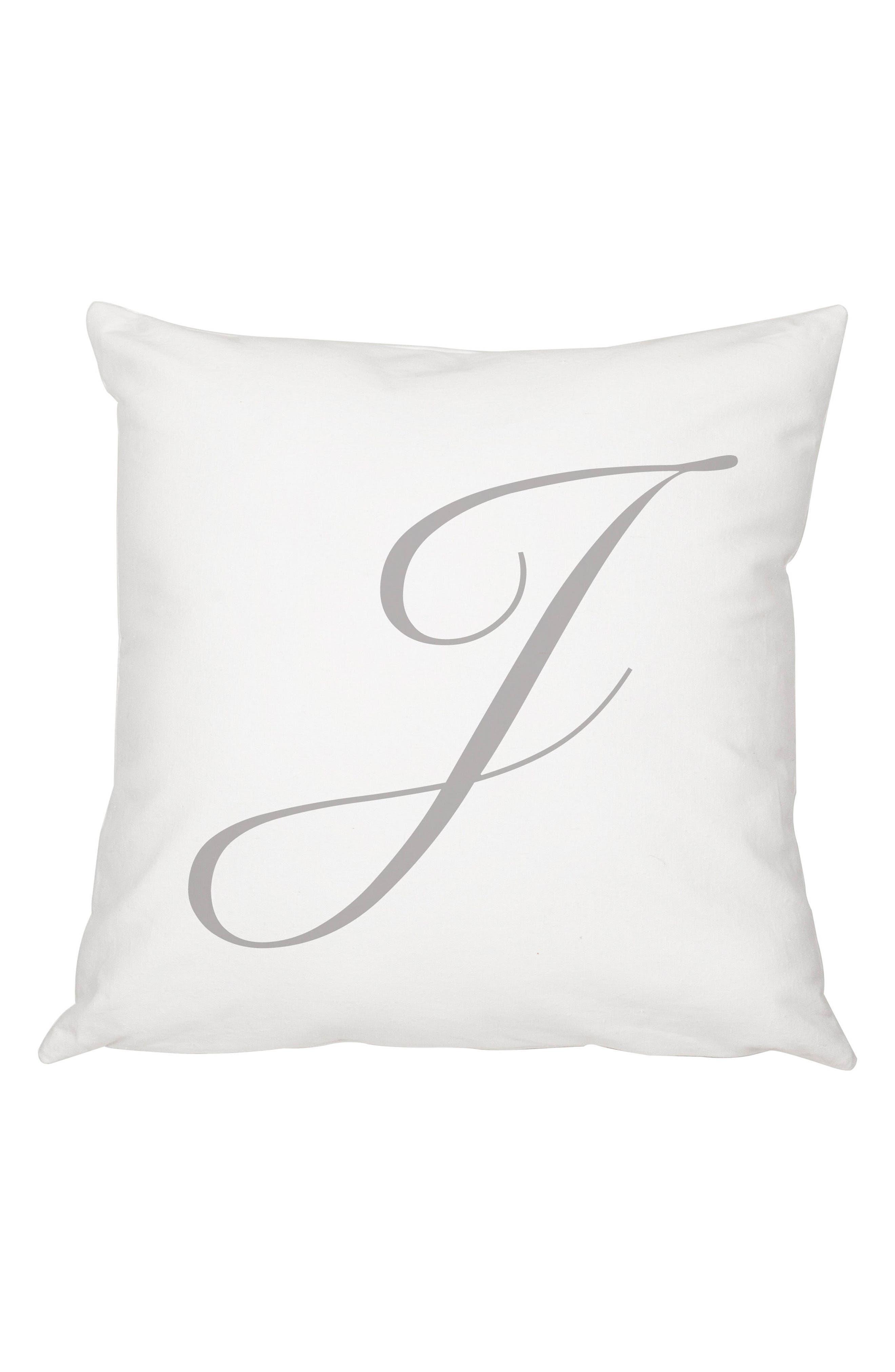 Script Monogram Accent Pillow,                             Main thumbnail 10, color,