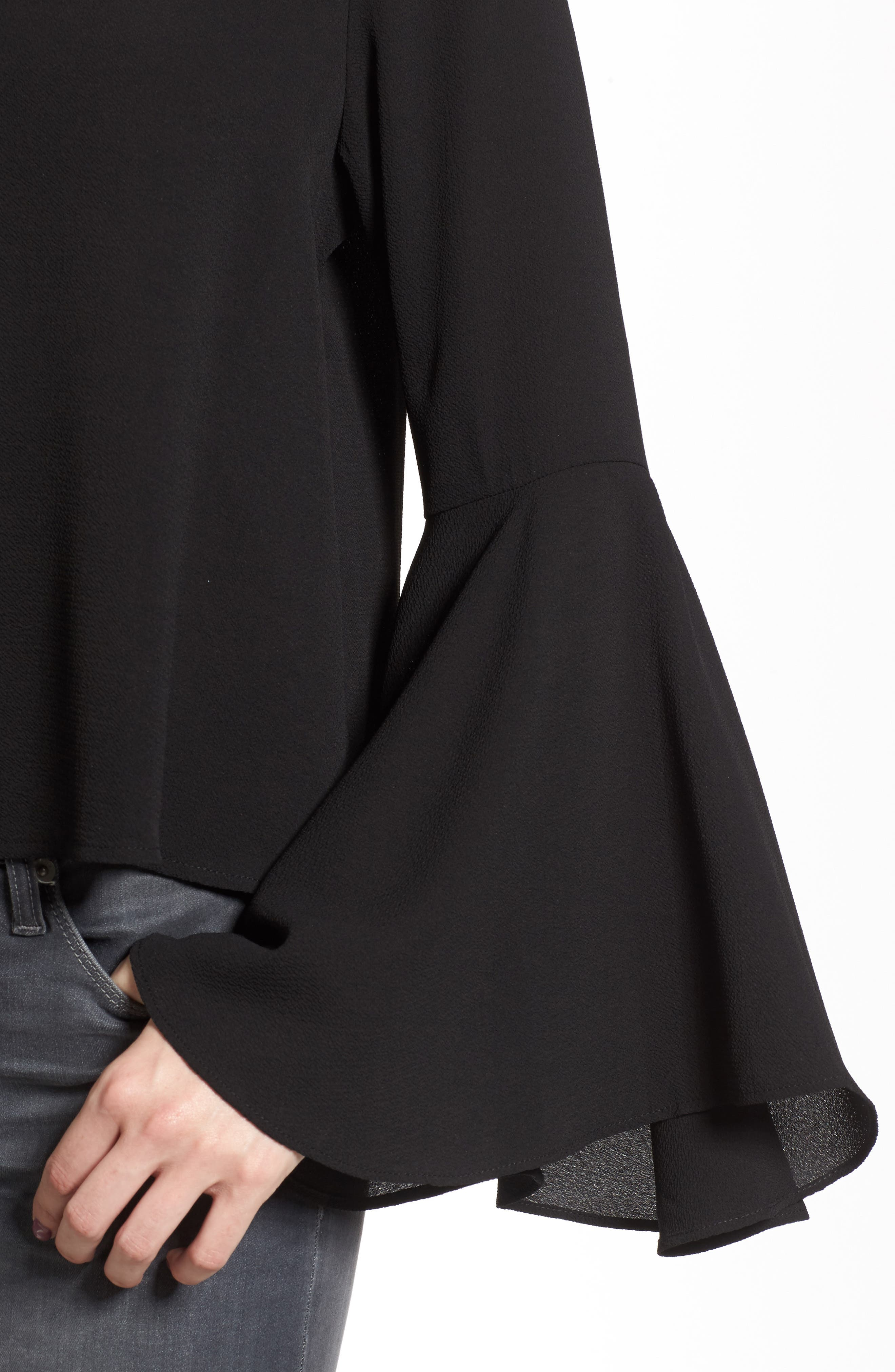 Bell Sleeve Top,                             Alternate thumbnail 4, color,                             001