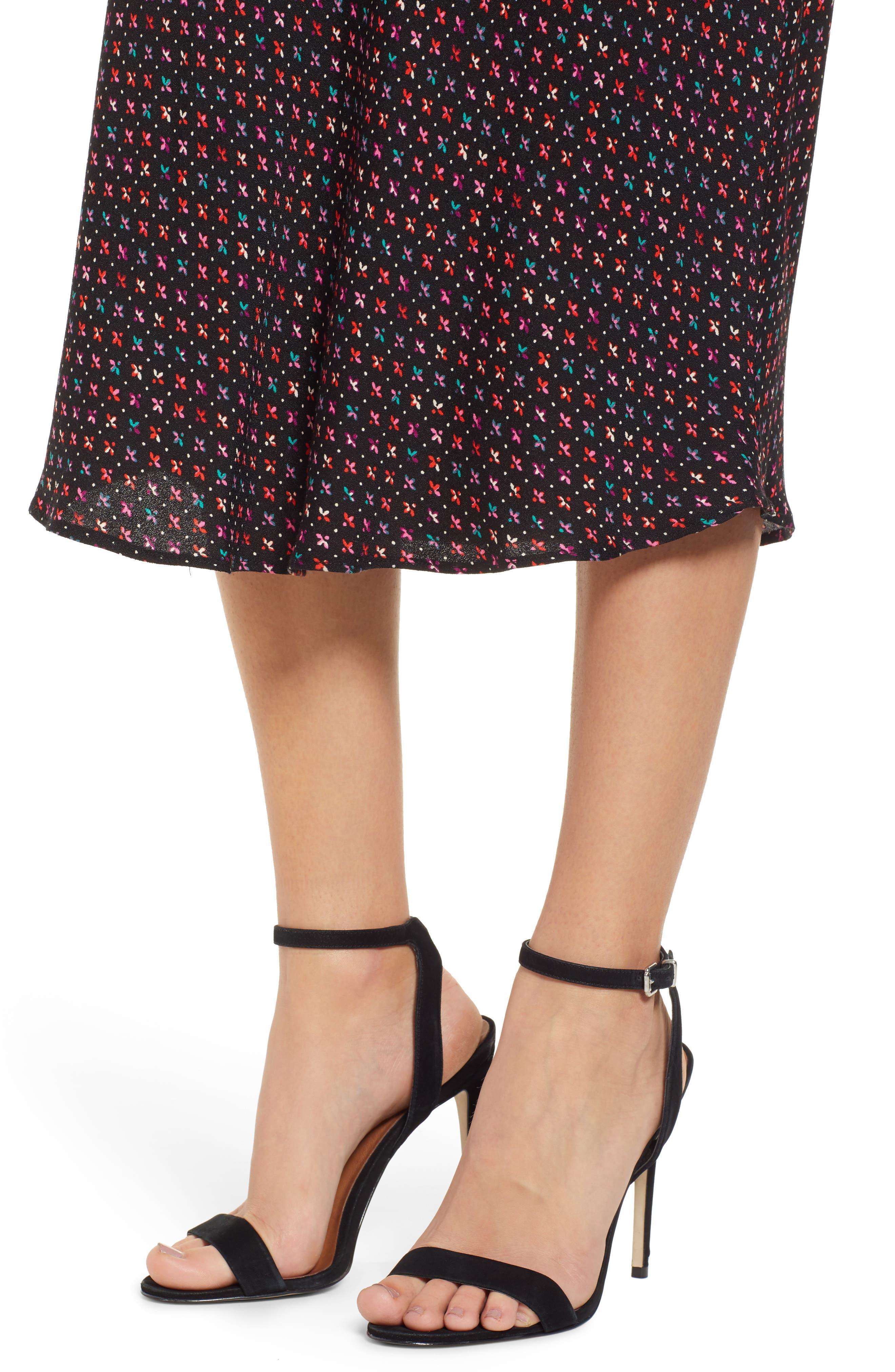 Brynne Print Midi Skirt,                             Alternate thumbnail 4, color,                             MULTI GEO