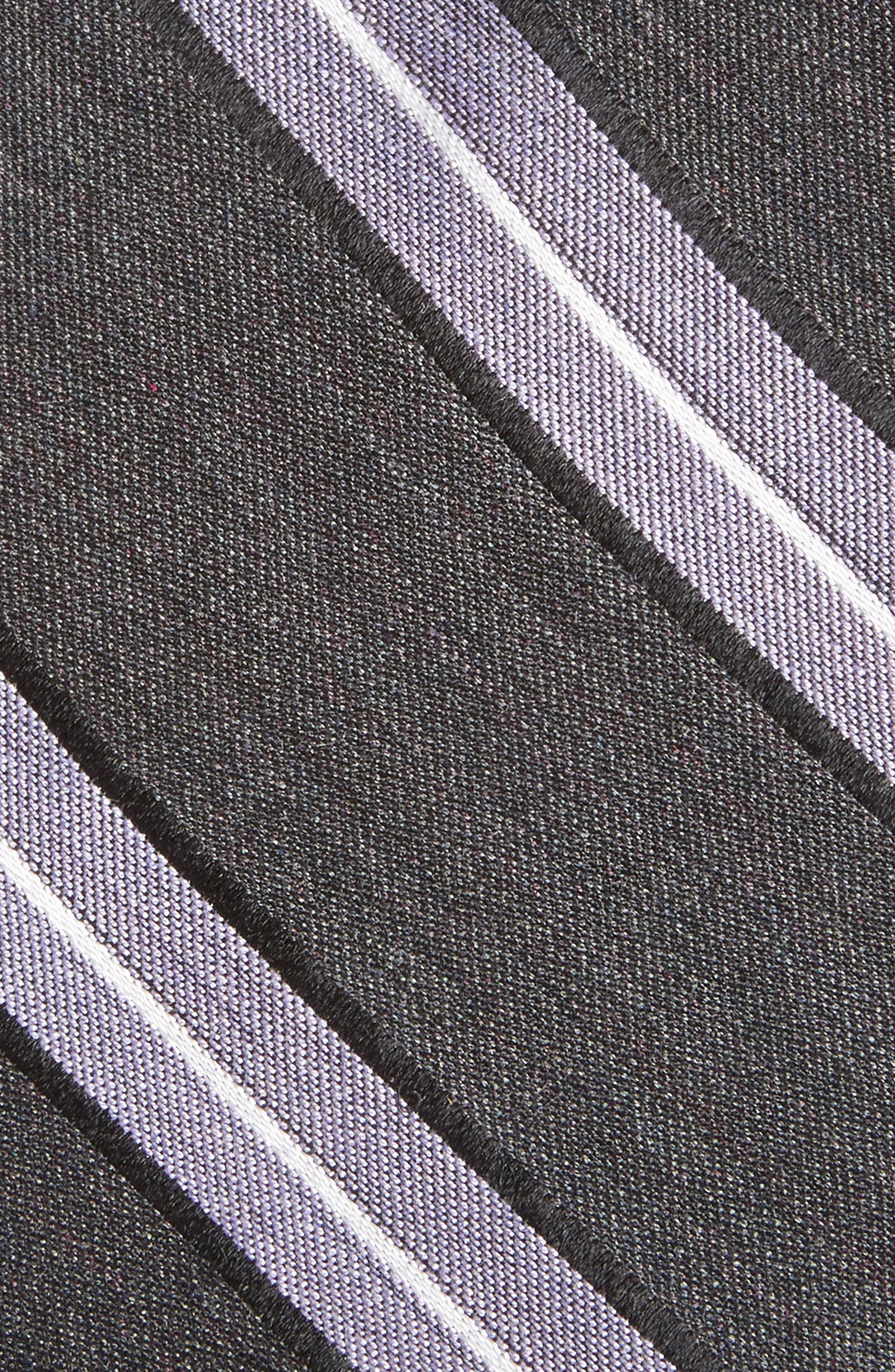 Peralba Stripe Silk Blend Tie,                             Alternate thumbnail 2, color,                             001