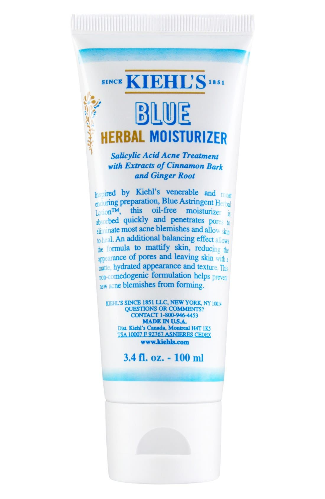Blue Herbal Moisturizer,                             Main thumbnail 1, color,                             NO COLOR