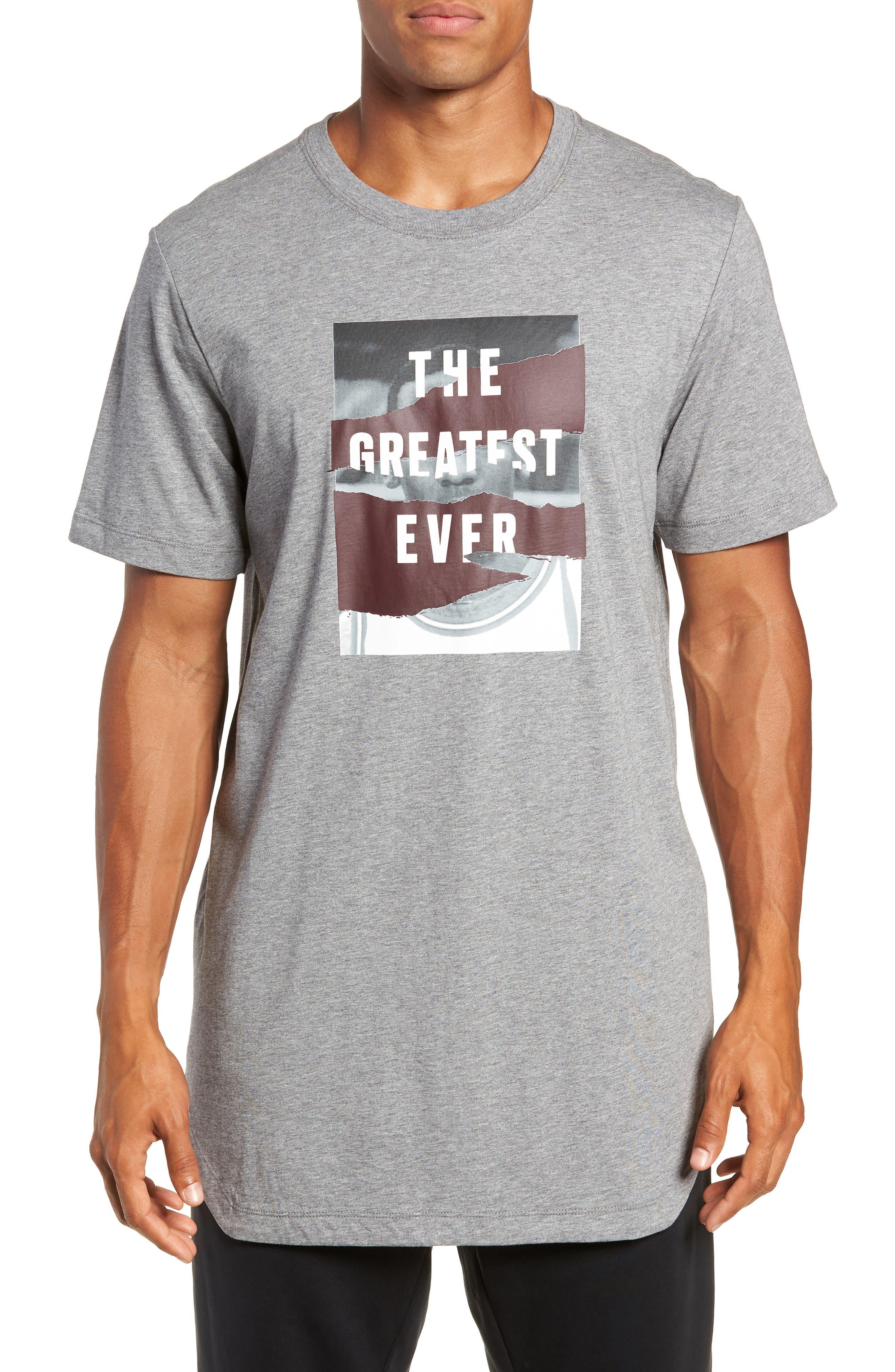 Longline T-Shirt,                         Main,                         color, GREY