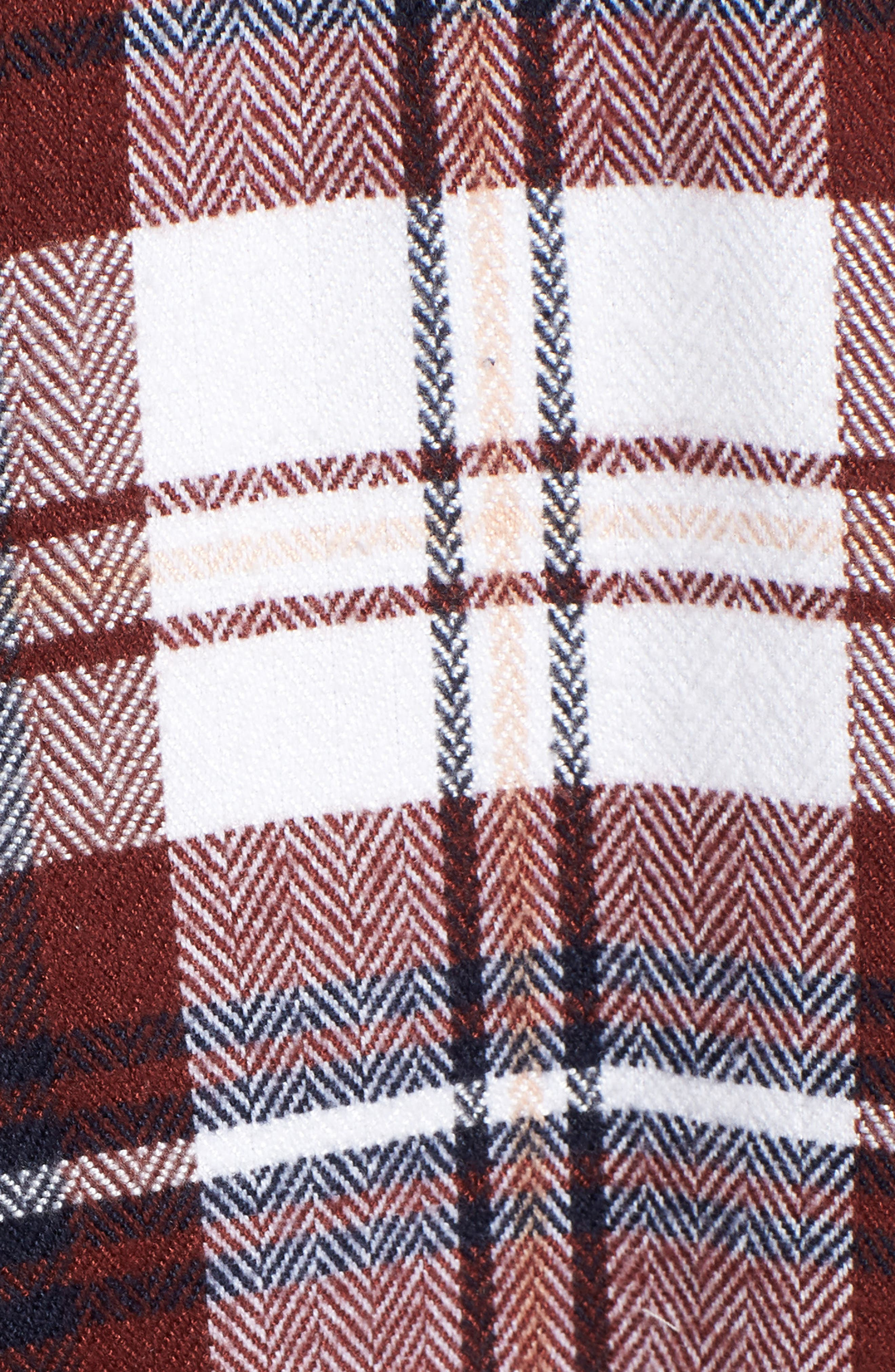 Plaid Flannel Tunic,                             Alternate thumbnail 5, color,                             IVORY CAMEL PLAID