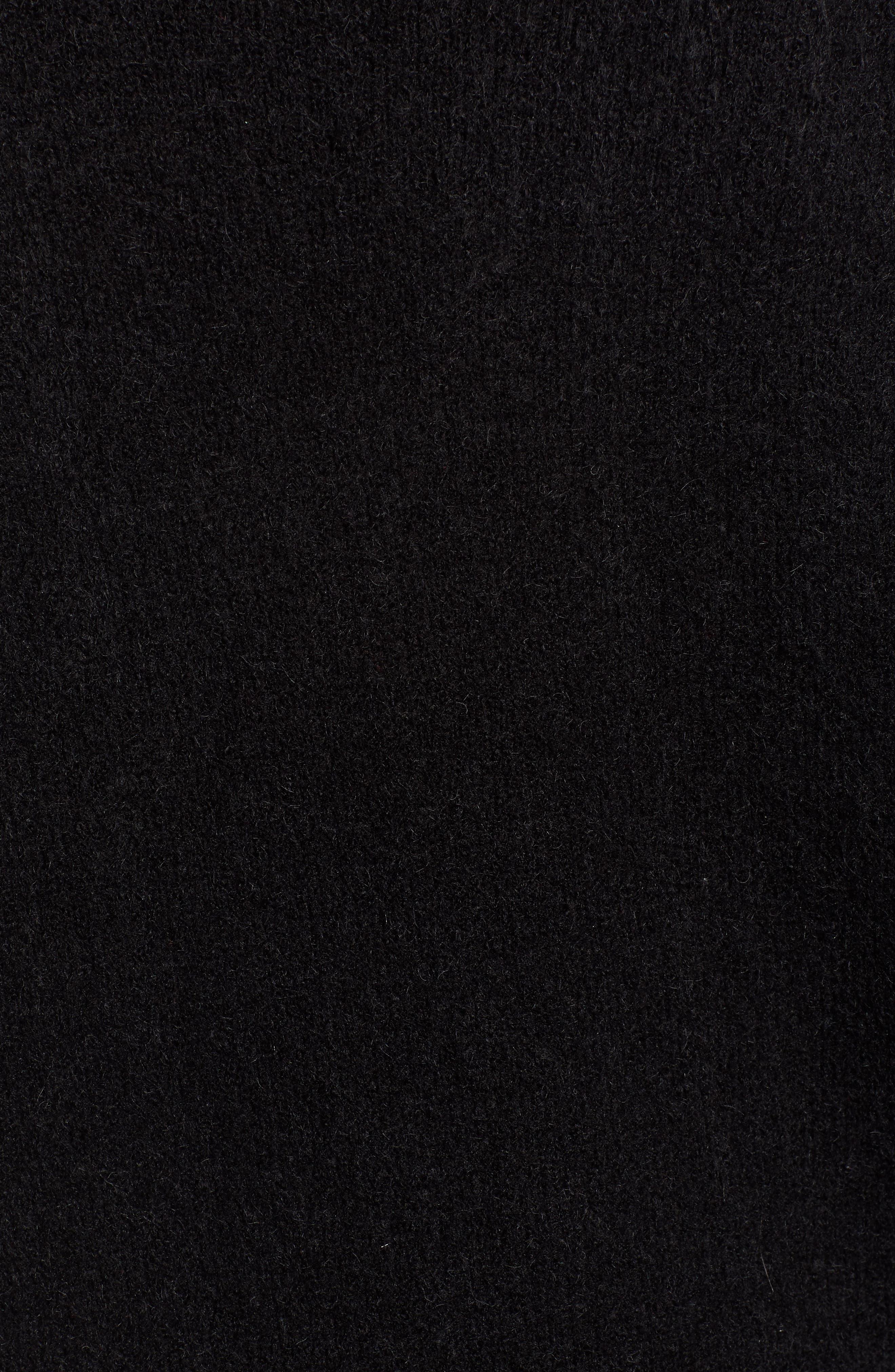HINGE,                             Bell Sleeve Sweater,                             Alternate thumbnail 5, color,                             BLACK