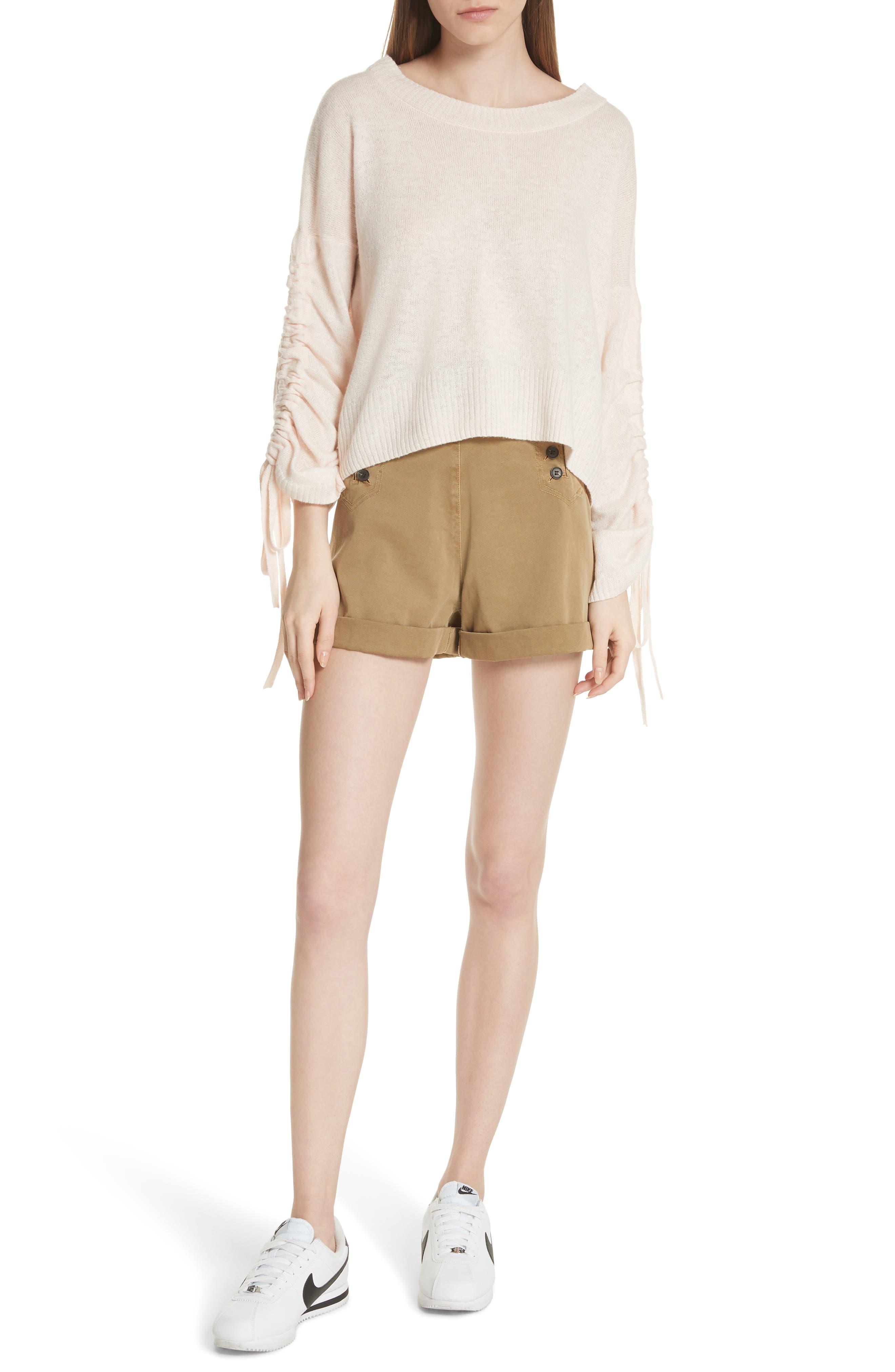 Pierce High Waist Sailor Shorts,                             Alternate thumbnail 7, color,