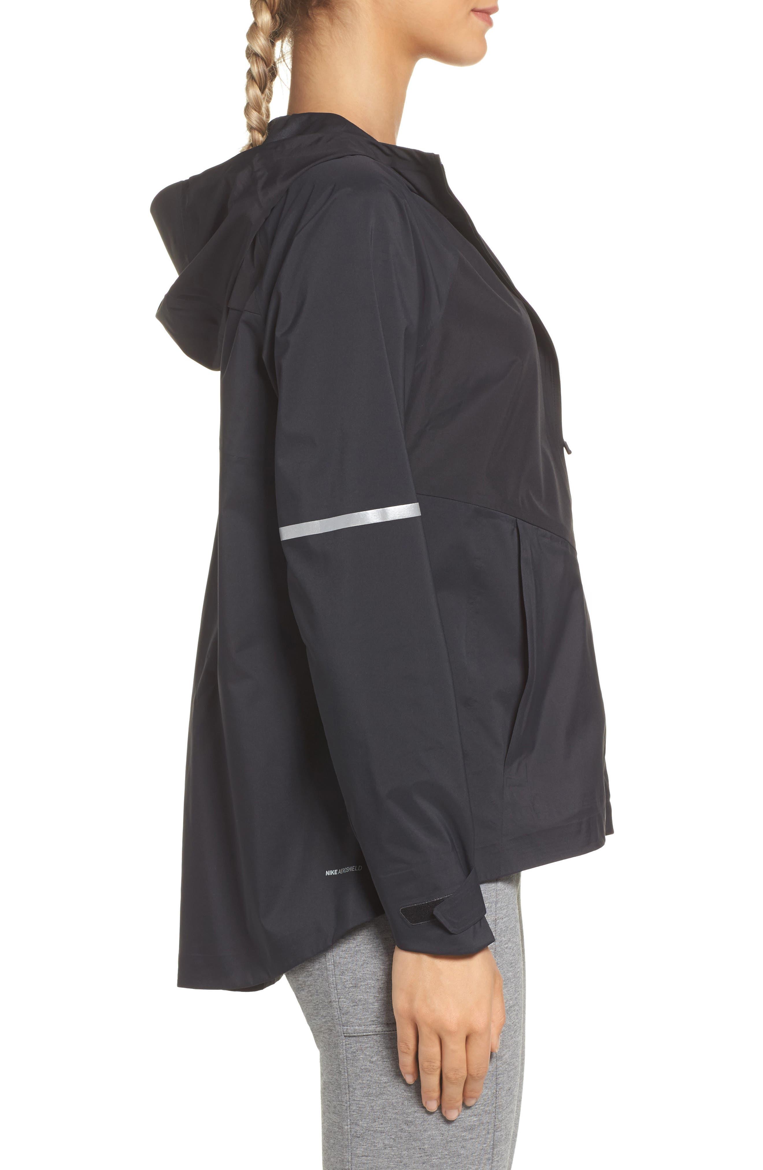 Zonal AeroShield Hooded Running Jacket,                             Alternate thumbnail 3, color,                             010