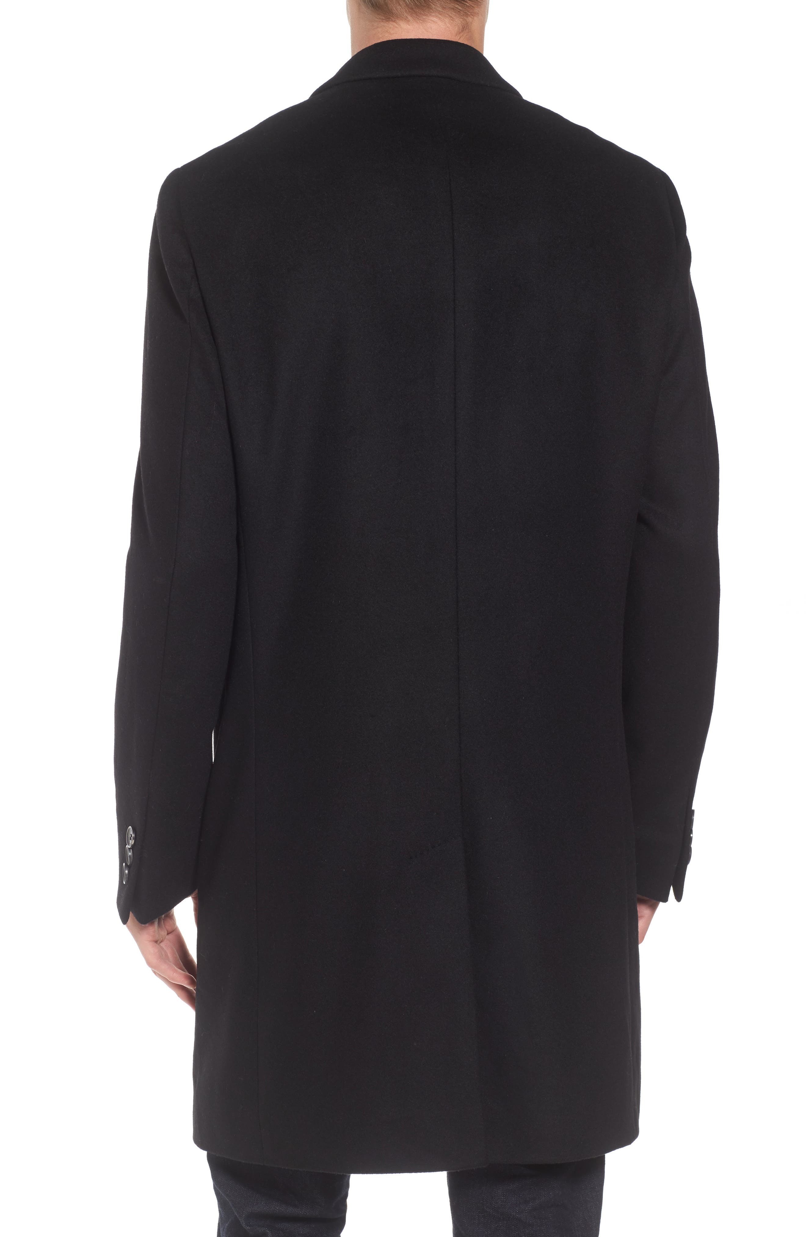 Nye Wool & Cashmere Topcoat,                             Alternate thumbnail 2, color,                             001