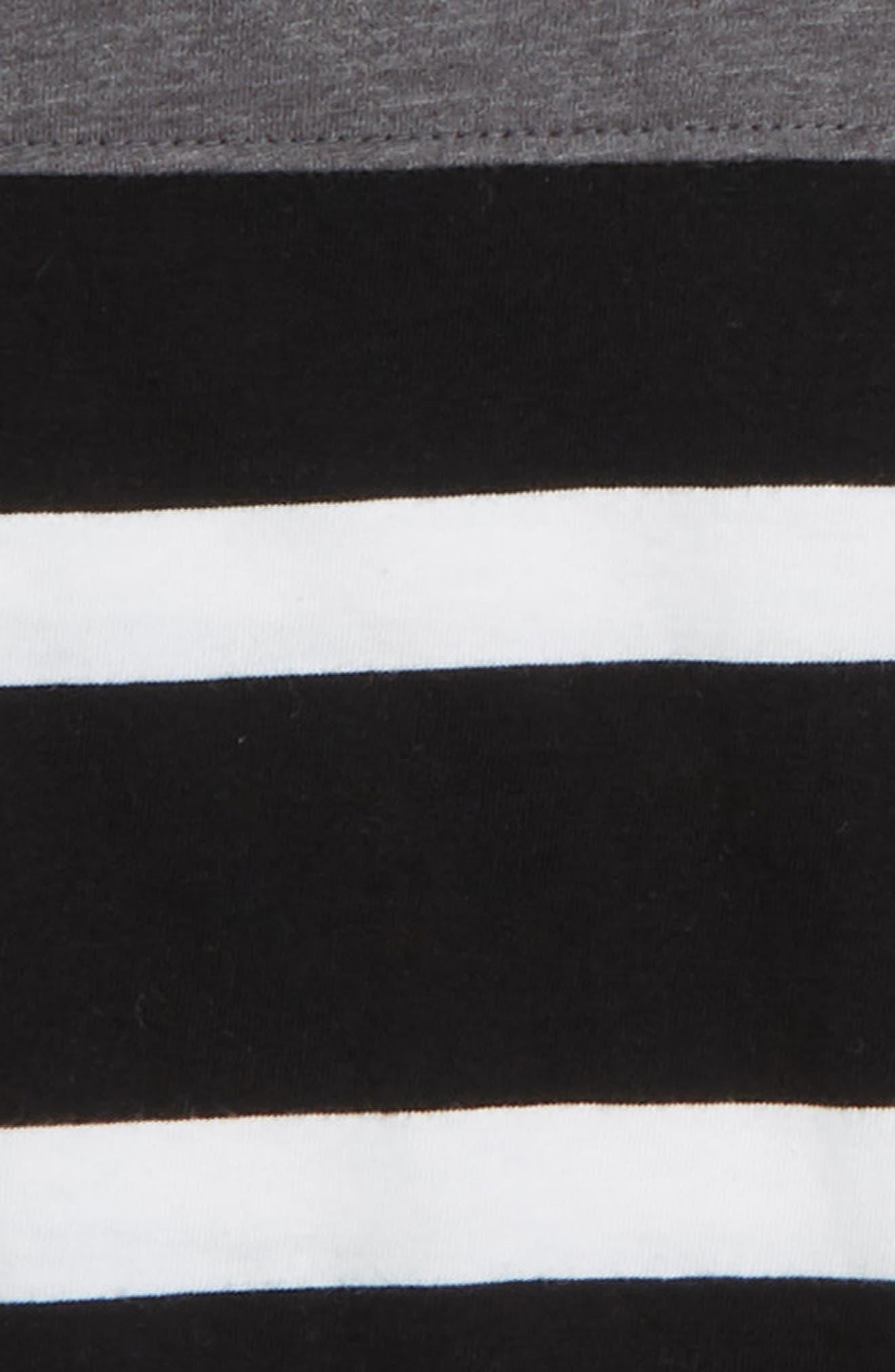 Solid & Stripe T-Shirt,                             Alternate thumbnail 2, color,                             001