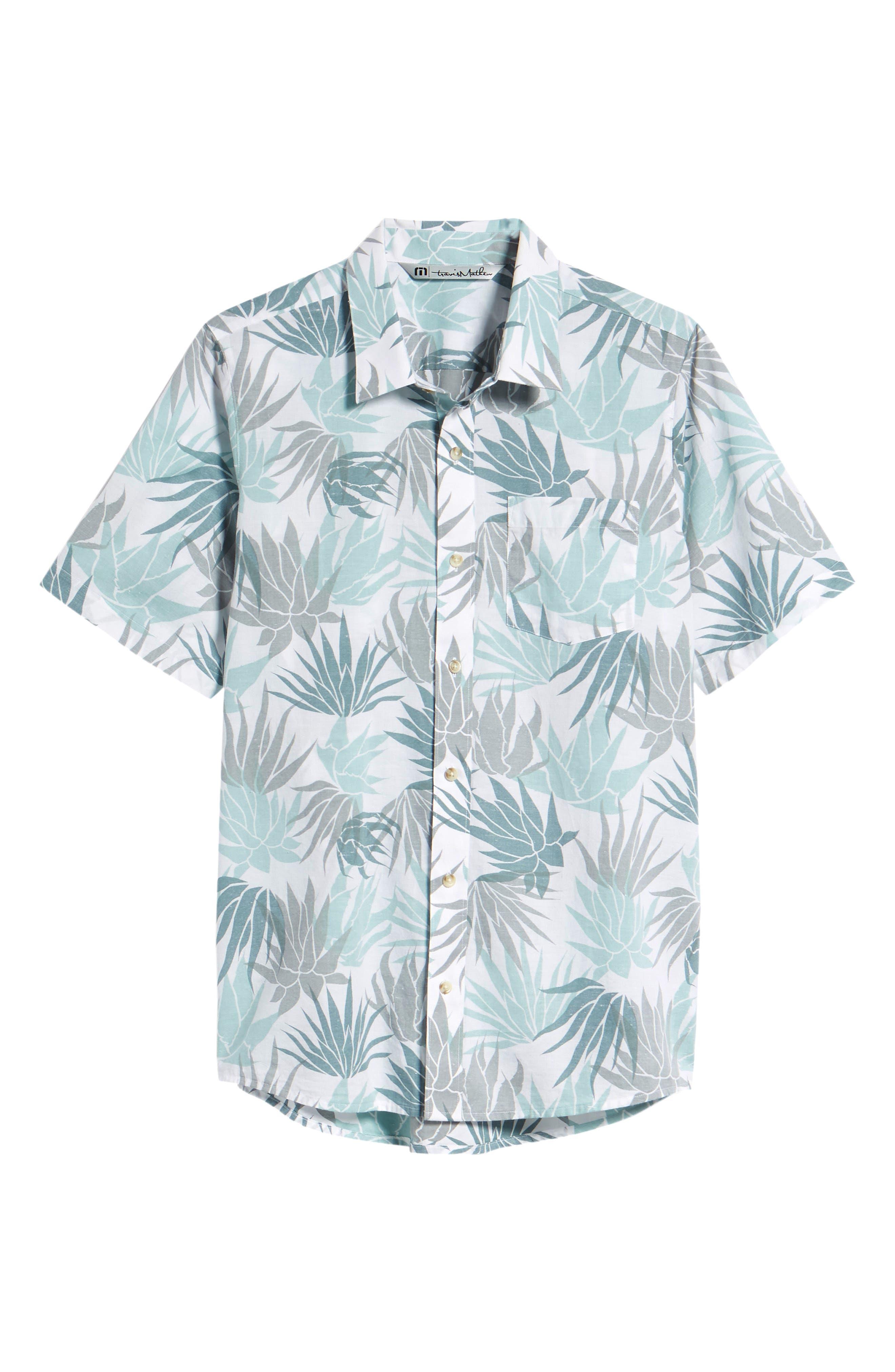 Monocots Regular Fit Sport Shirt,                             Alternate thumbnail 6, color,                             WHITE