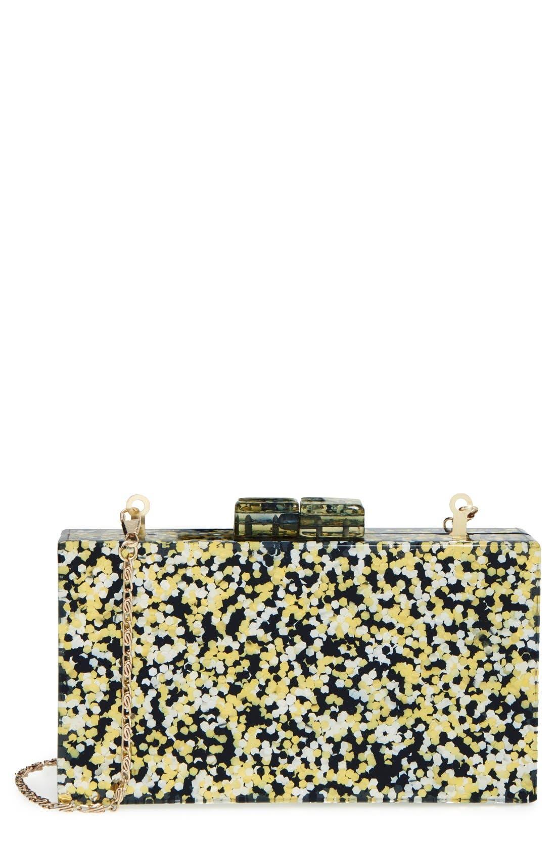 Couture Box Clutch,                             Main thumbnail 1, color,                             001