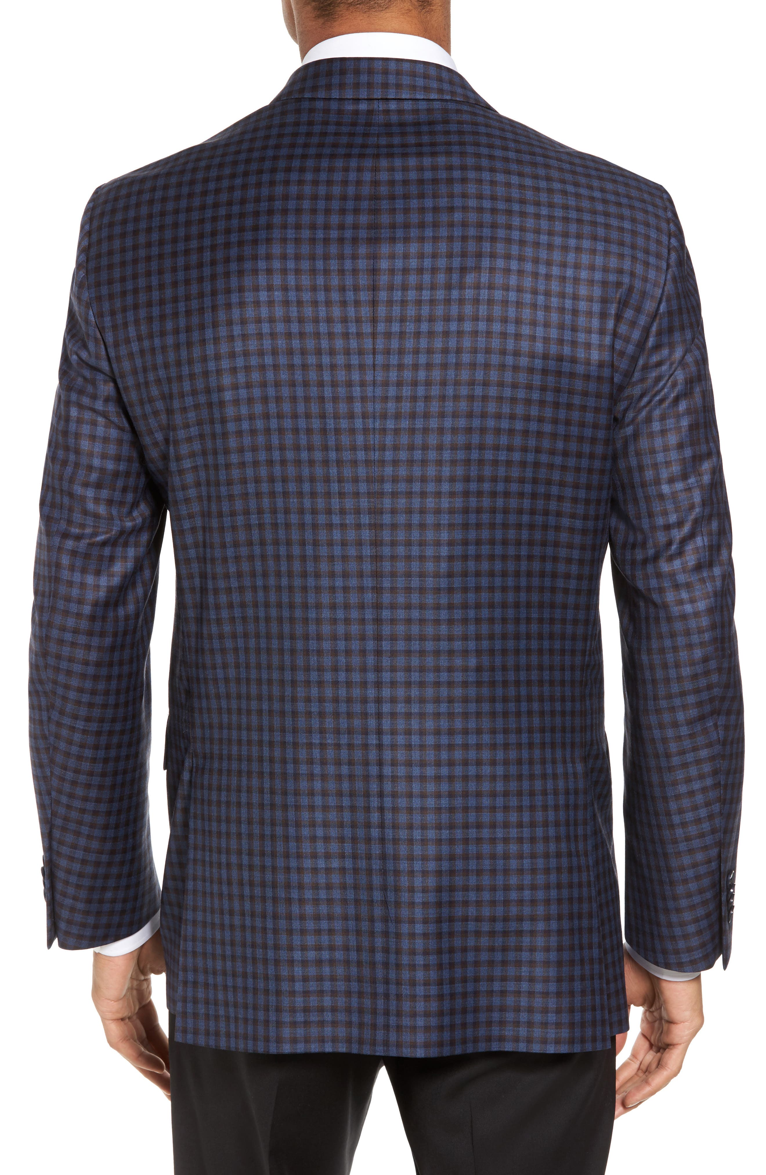 Classic Fit Check Wool Sport Coat,                             Alternate thumbnail 2, color,                             400