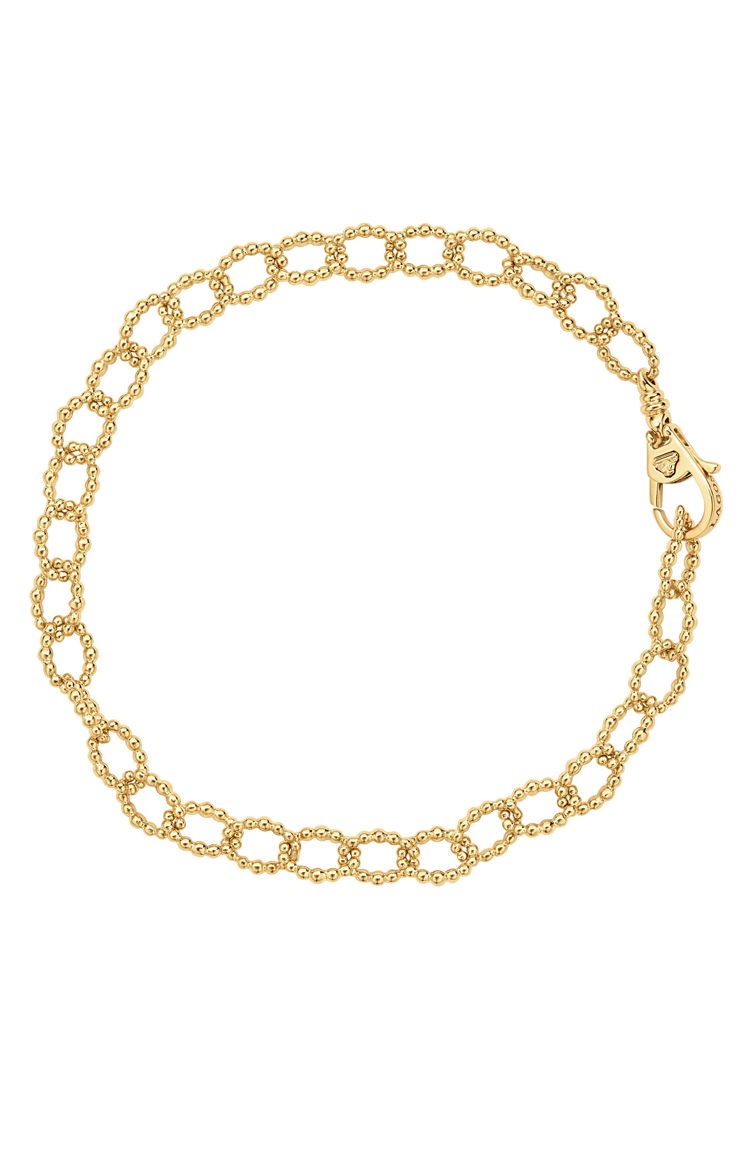 Caviar Link Bracelet,                             Alternate thumbnail 2, color,                             GOLD