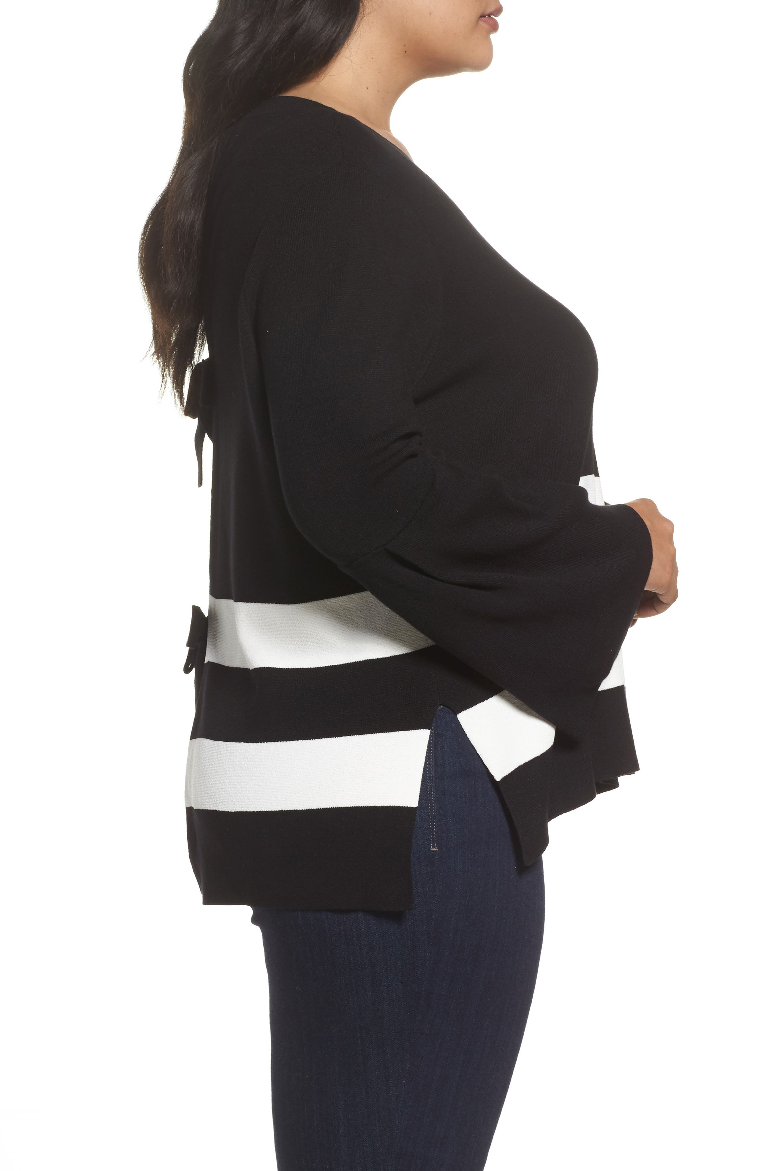Bow Back Stripe Top,                             Alternate thumbnail 5, color,