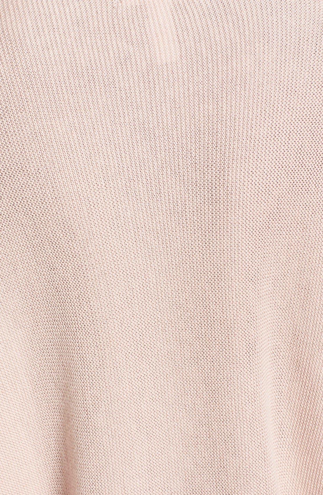 Ruffle Sleeve Sweater,                             Alternate thumbnail 18, color,