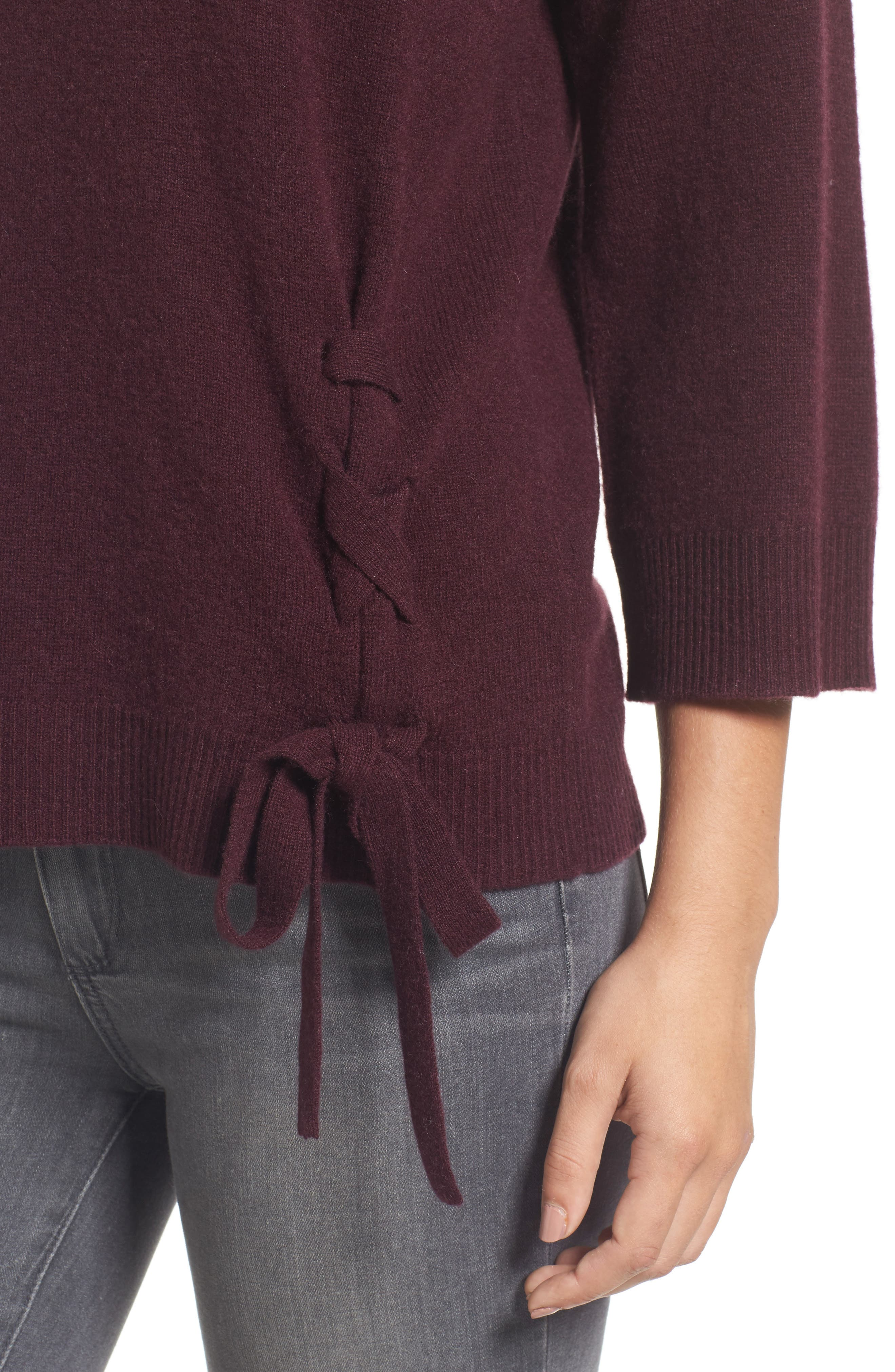 Side Tie Wool and Cashmere Sweater,                             Alternate thumbnail 24, color,