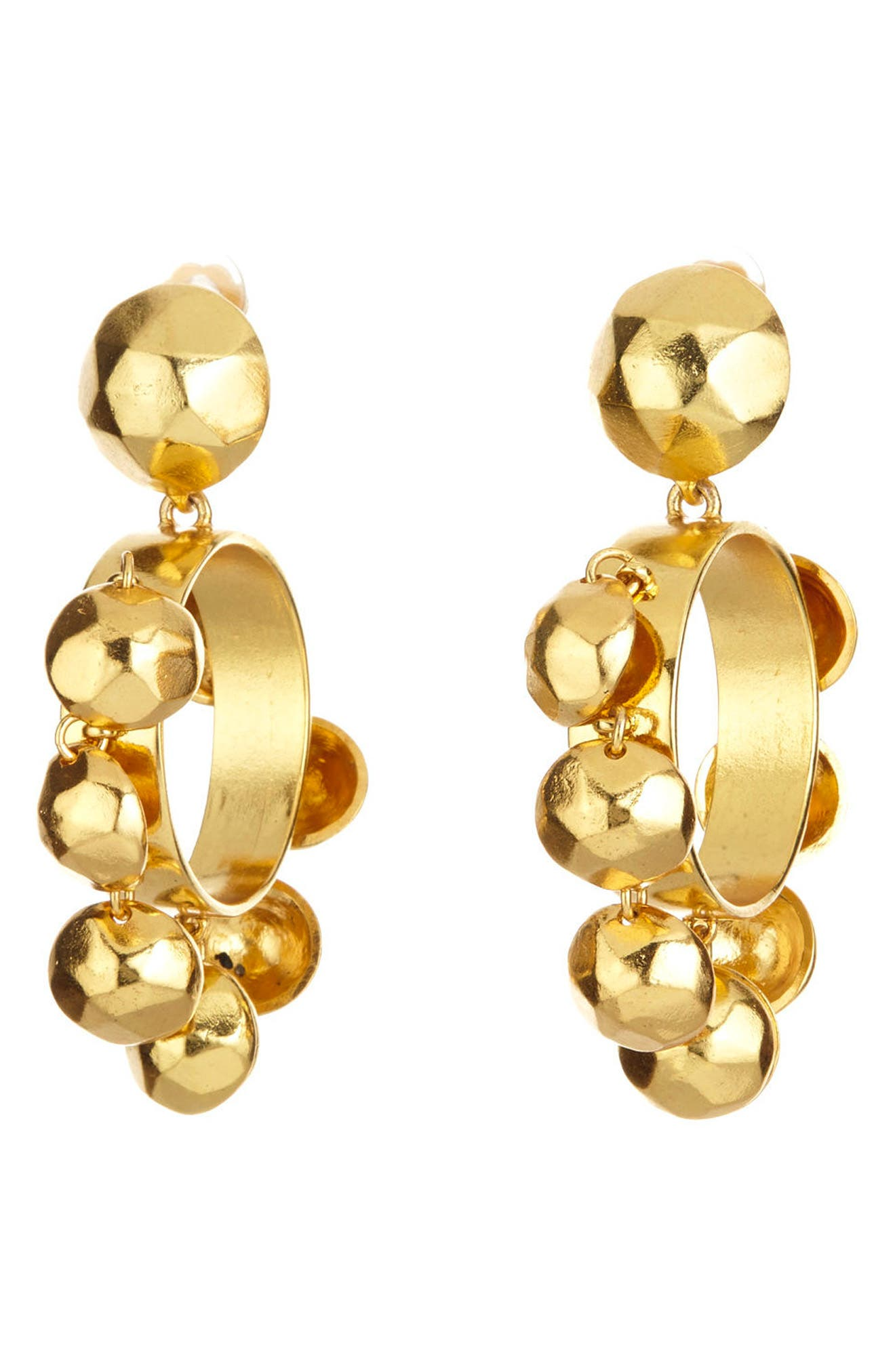 Bold Bead Hoop Clip Earrings,                             Main thumbnail 1, color,                             710