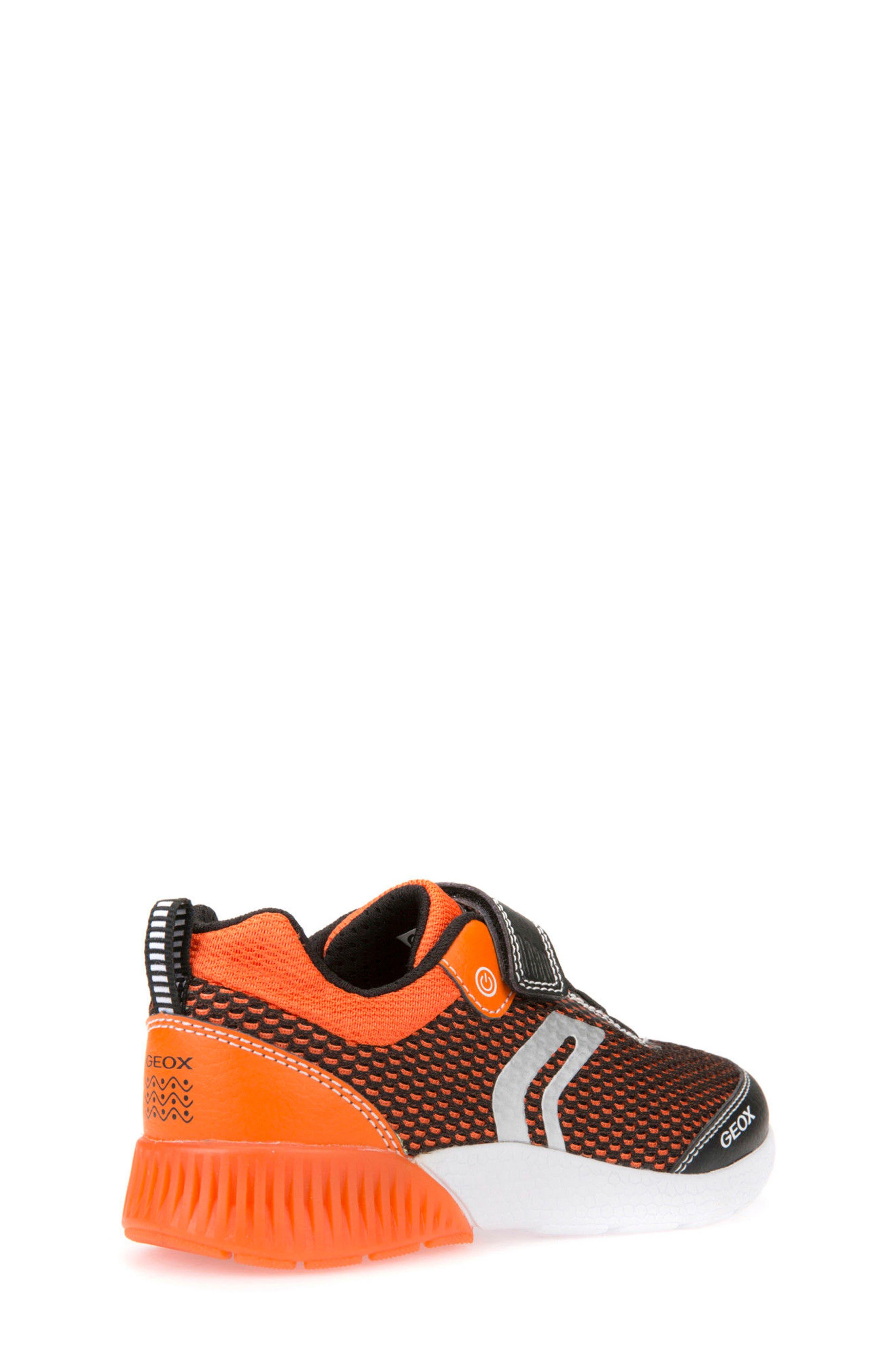 Sveth Light-Up Sneaker,                             Alternate thumbnail 2, color,                             BLACK/ ORANGE