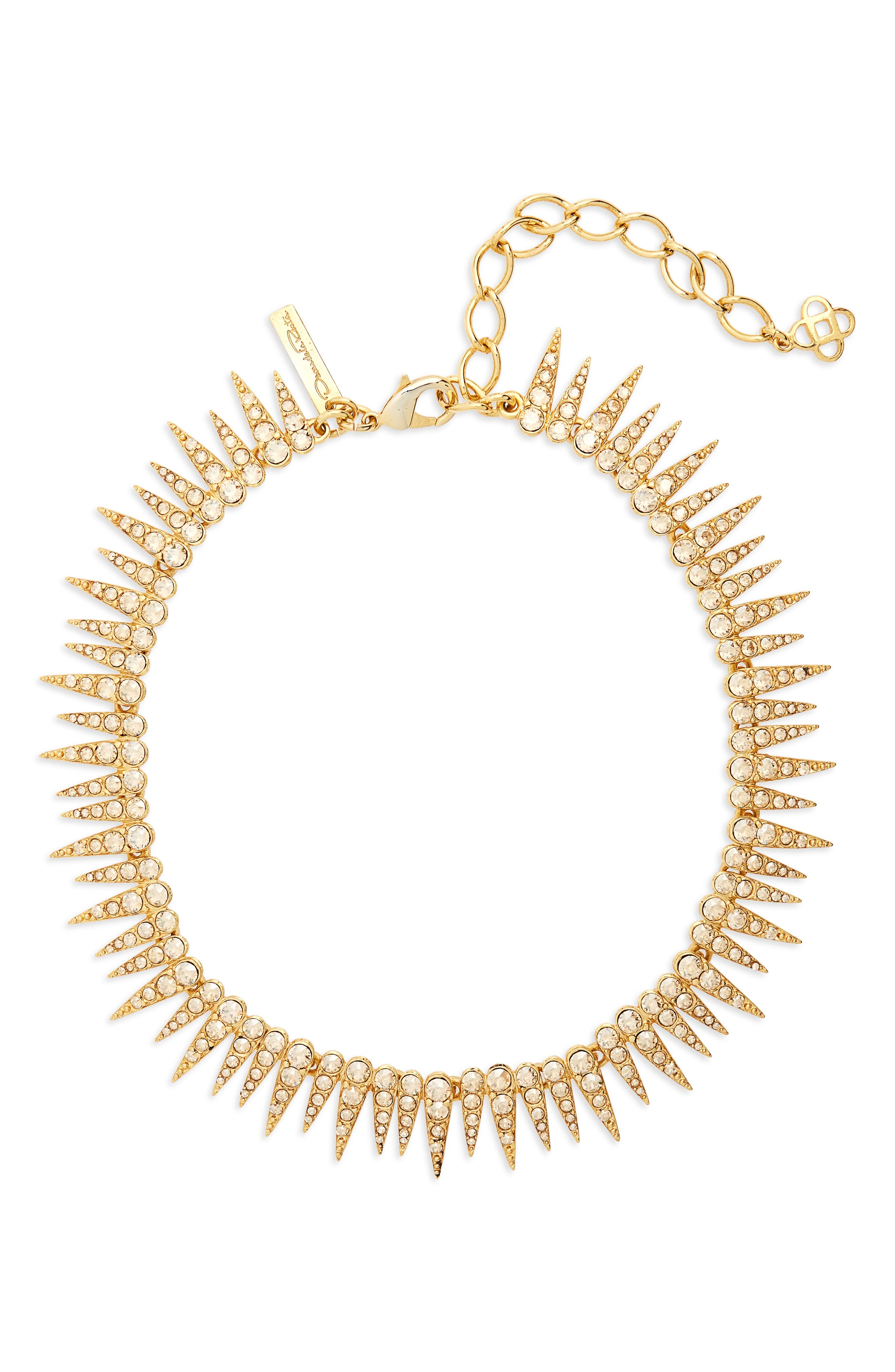 Crystal Sea Urchin Necklace,                             Main thumbnail 1, color,                             CRYSTAL GOLD SHADOW