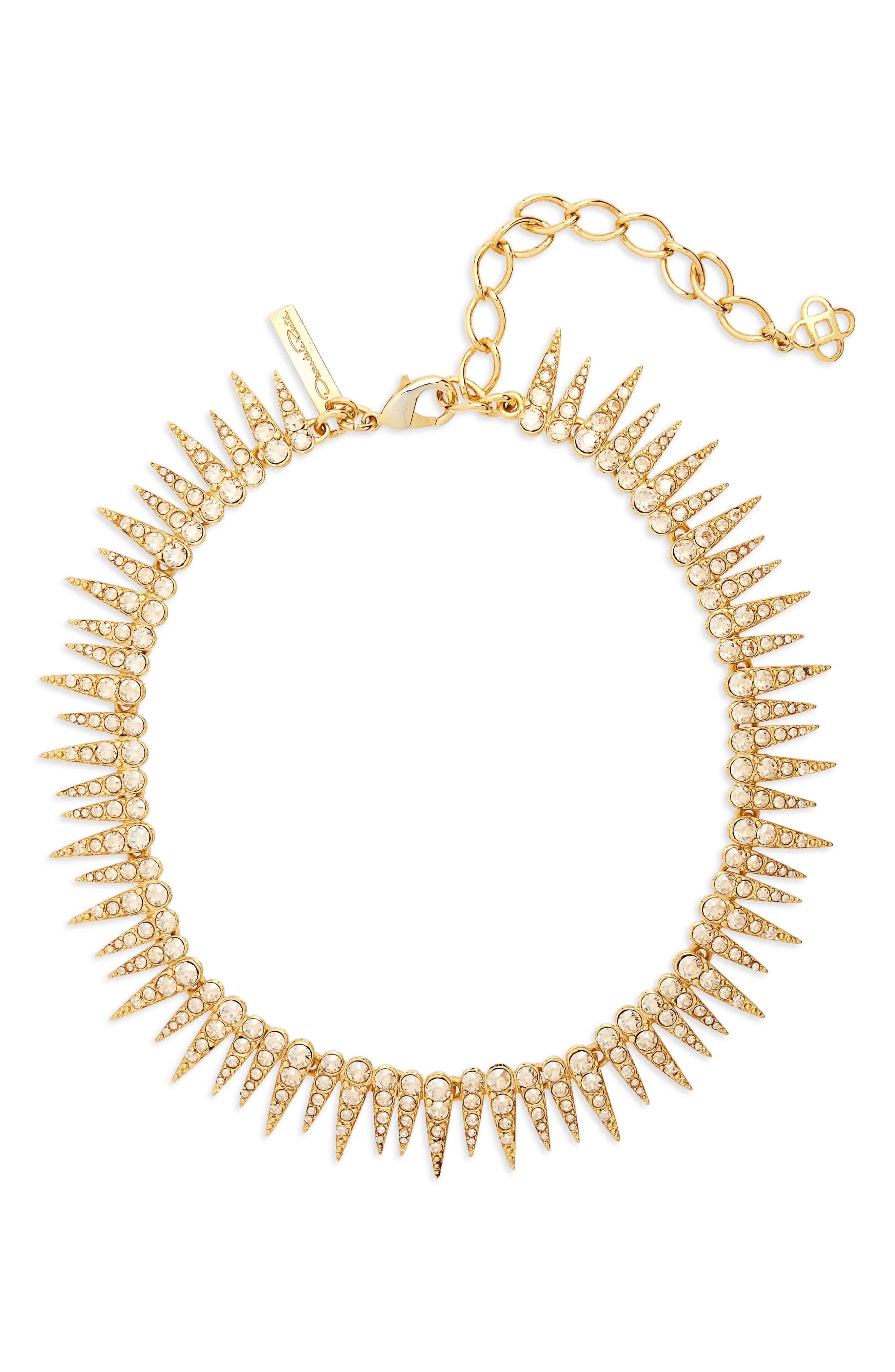Crystal Sea Urchin Necklace,                         Main,                         color, CRYSTAL GOLD SHADOW