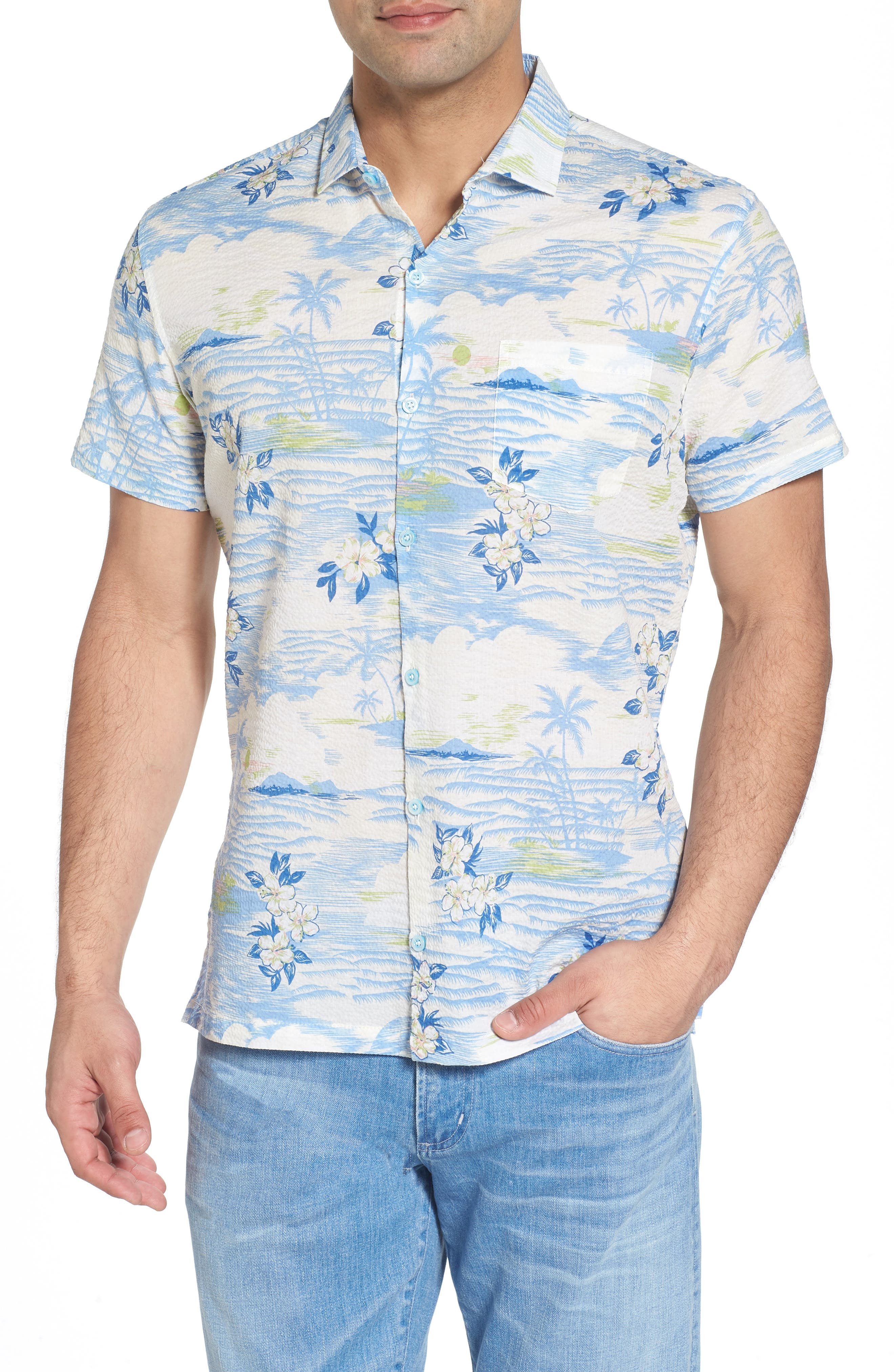 Tropic Dream Lawn Sport Shirt,                         Main,                         color, 409
