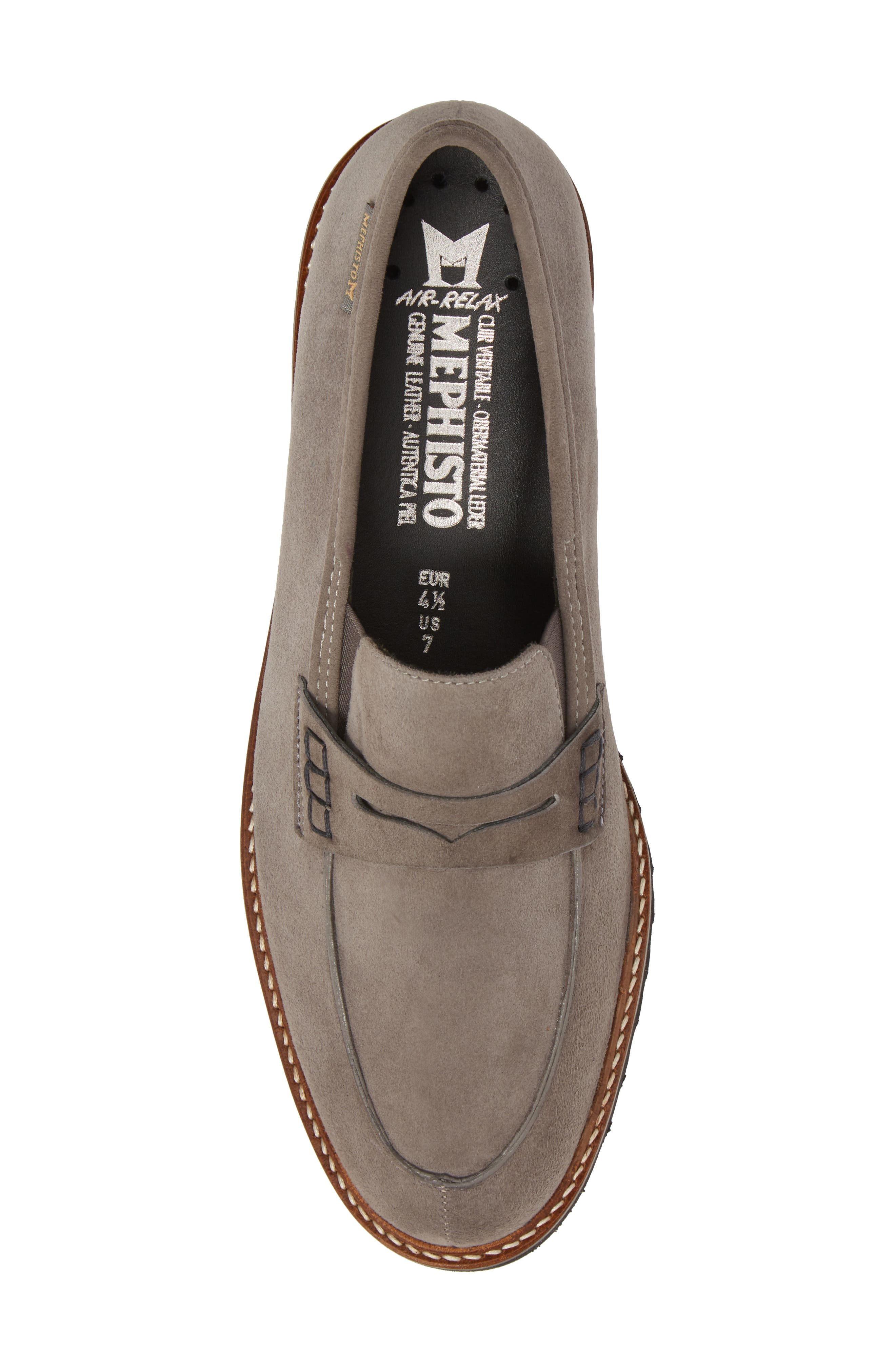 Sidney Penny Loafer,                             Alternate thumbnail 5, color,                             GREY SUEDE