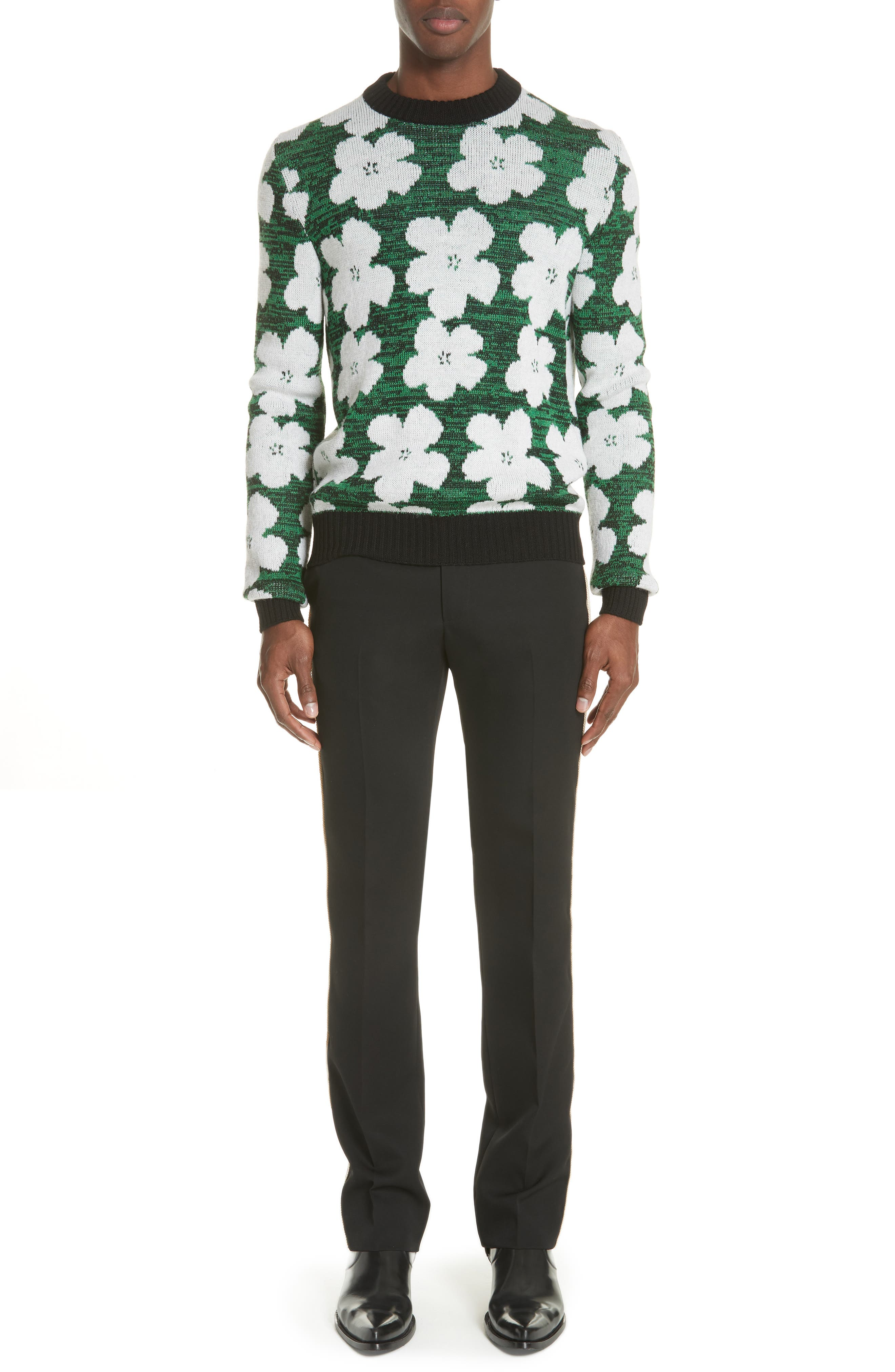 Andy Warhol Flower Sweater,                             Alternate thumbnail 7, color,                             320