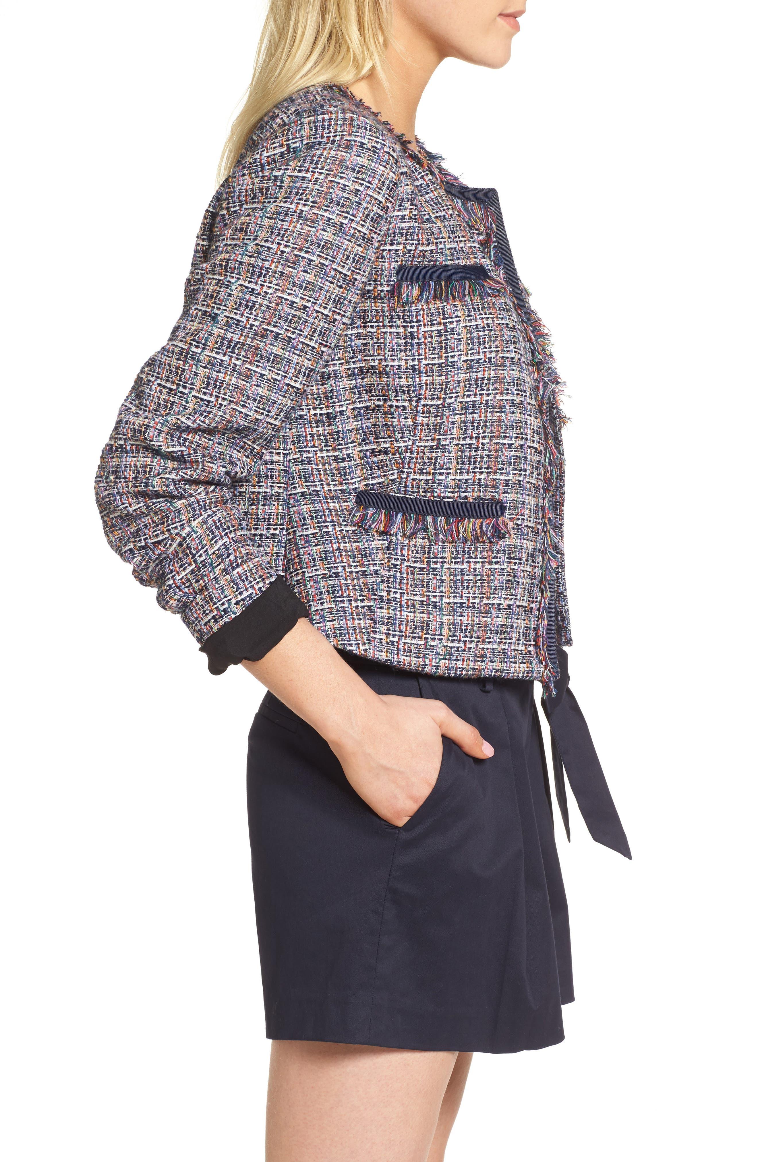Tweed Jacket,                             Alternate thumbnail 3, color,