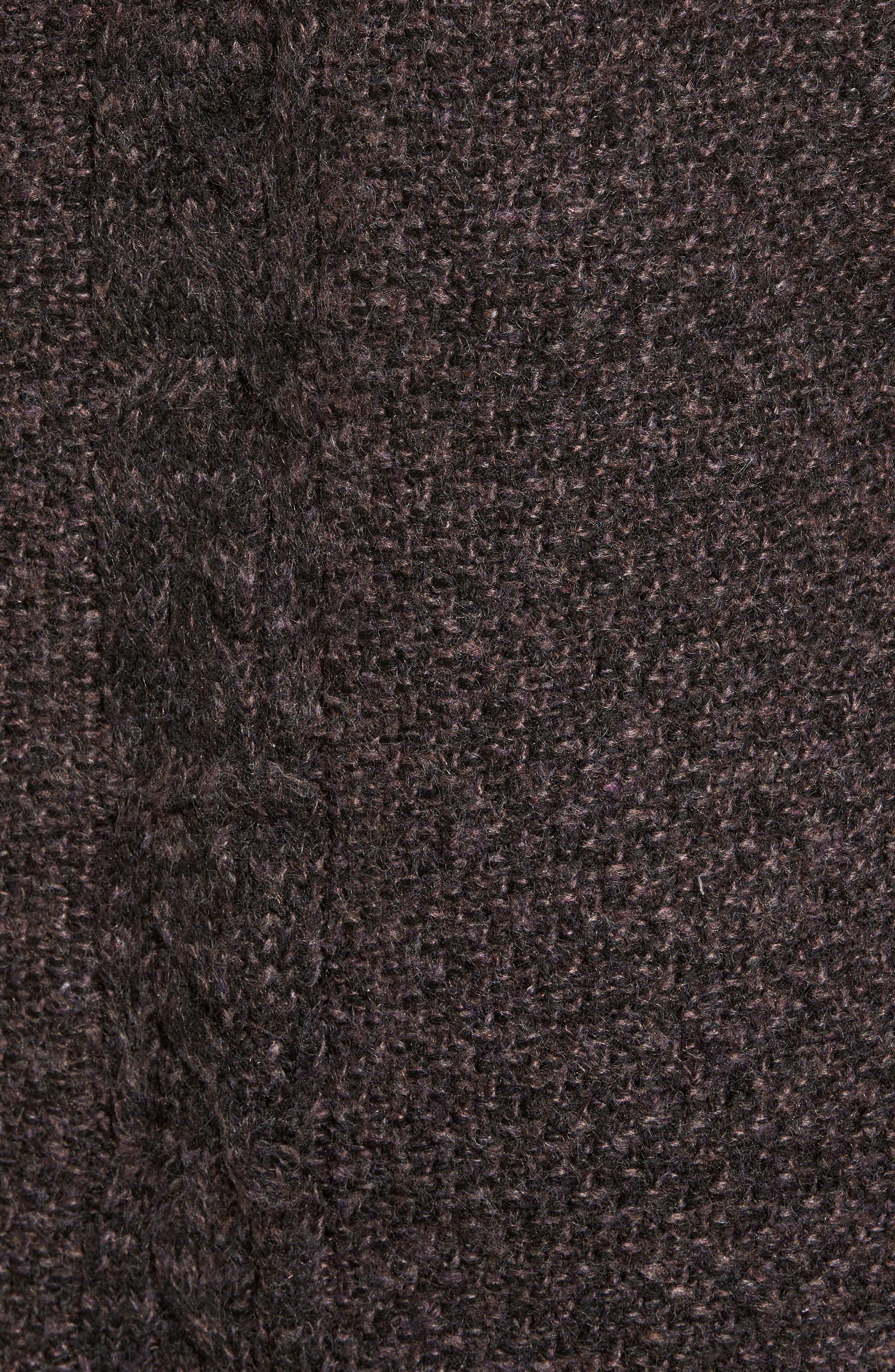 COTTON EMPORIUM,                             Marled Knit Open Cardigan,                             Alternate thumbnail 5, color,                             001