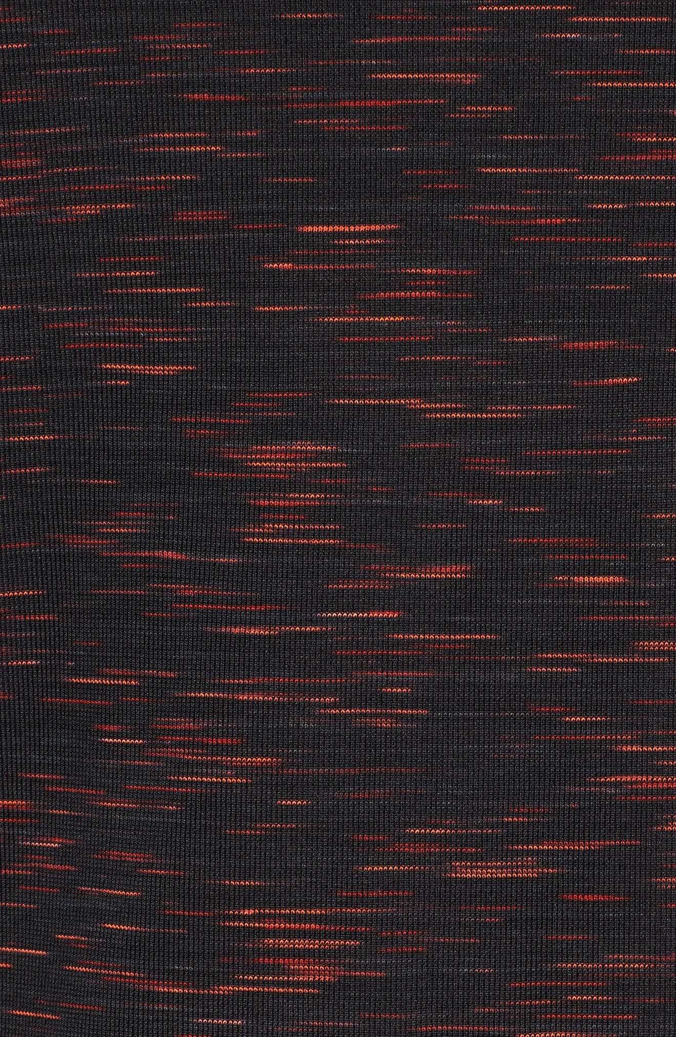 Threadborne Regular Fit T-Shirt,                             Alternate thumbnail 5, color,                             ANTHRACITE/ NEON CORAL