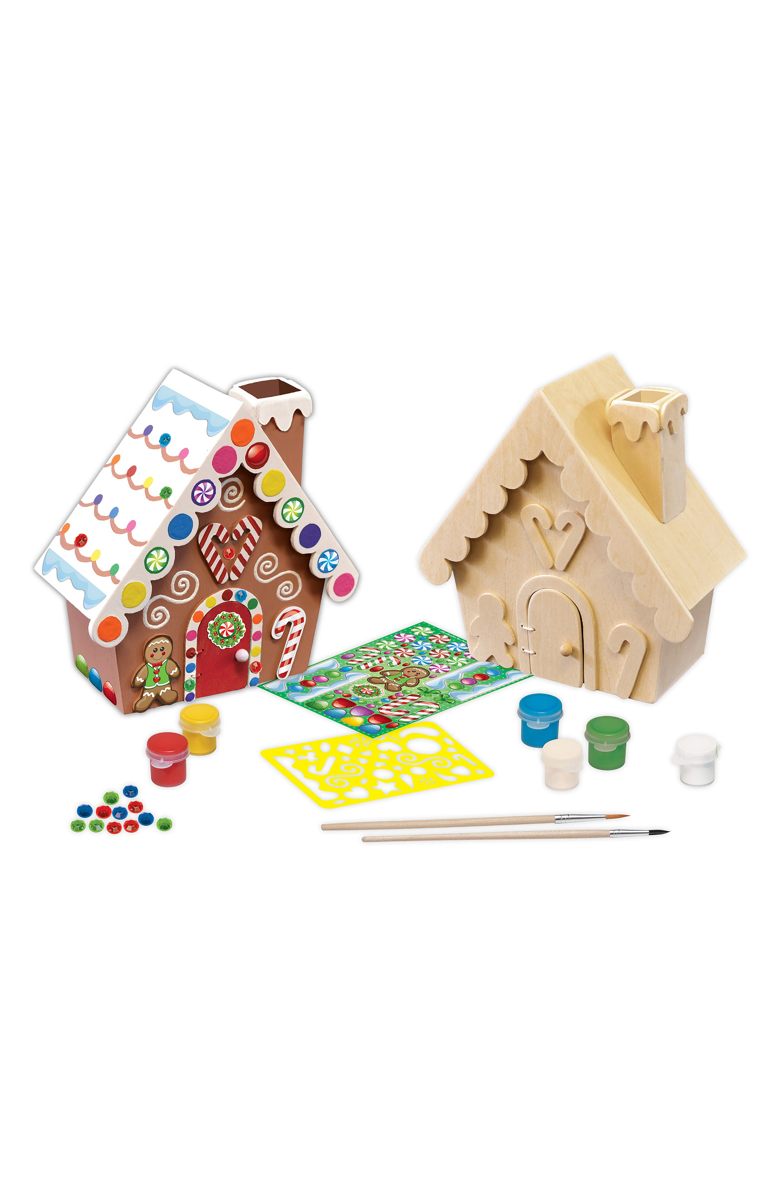 Gingerbread House Wood Craft & Paint Kit,                             Alternate thumbnail 2, color,                             960