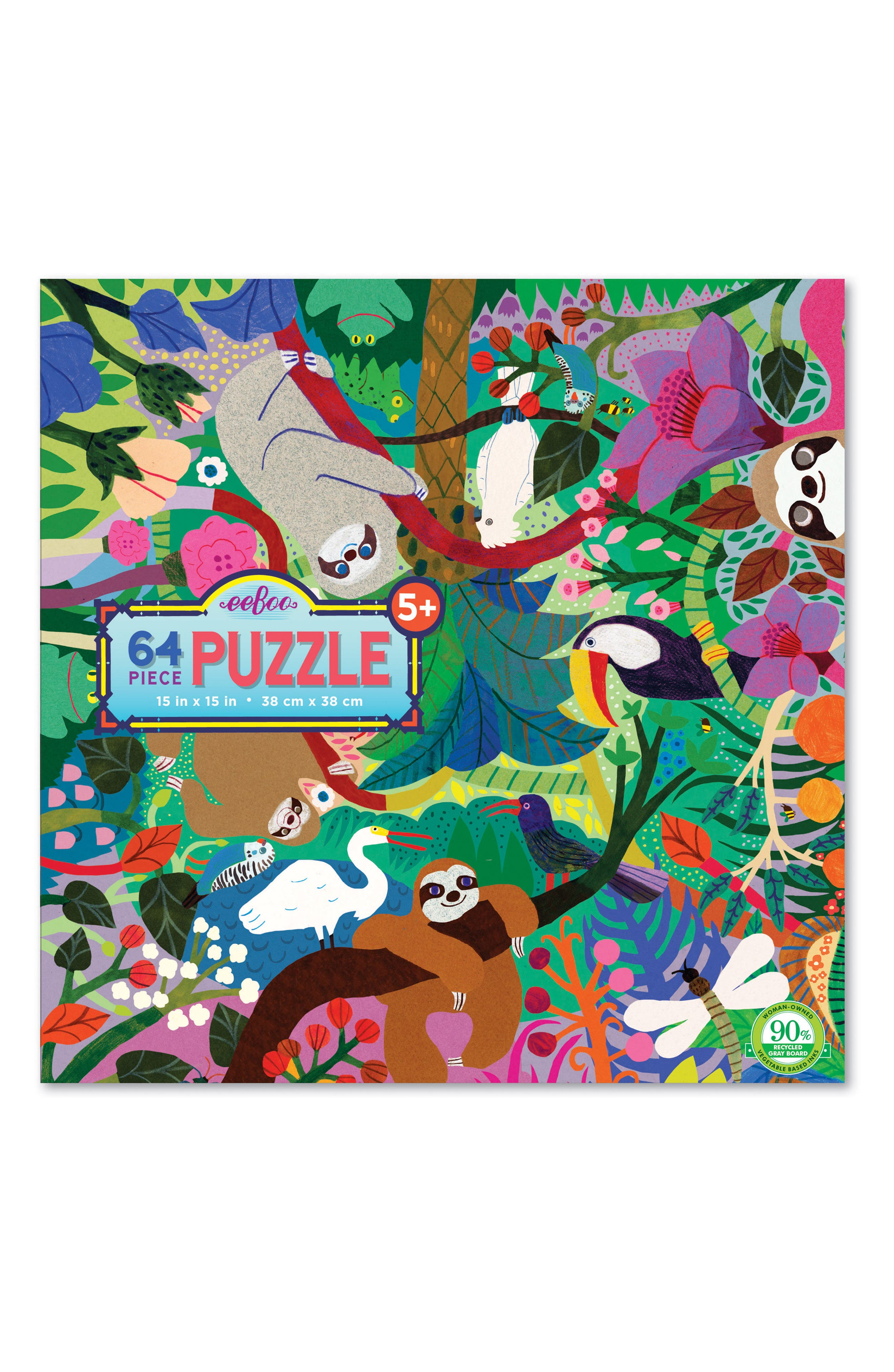 Sloths at Play 64-Piece Puzzle,                         Main,                         color, 300