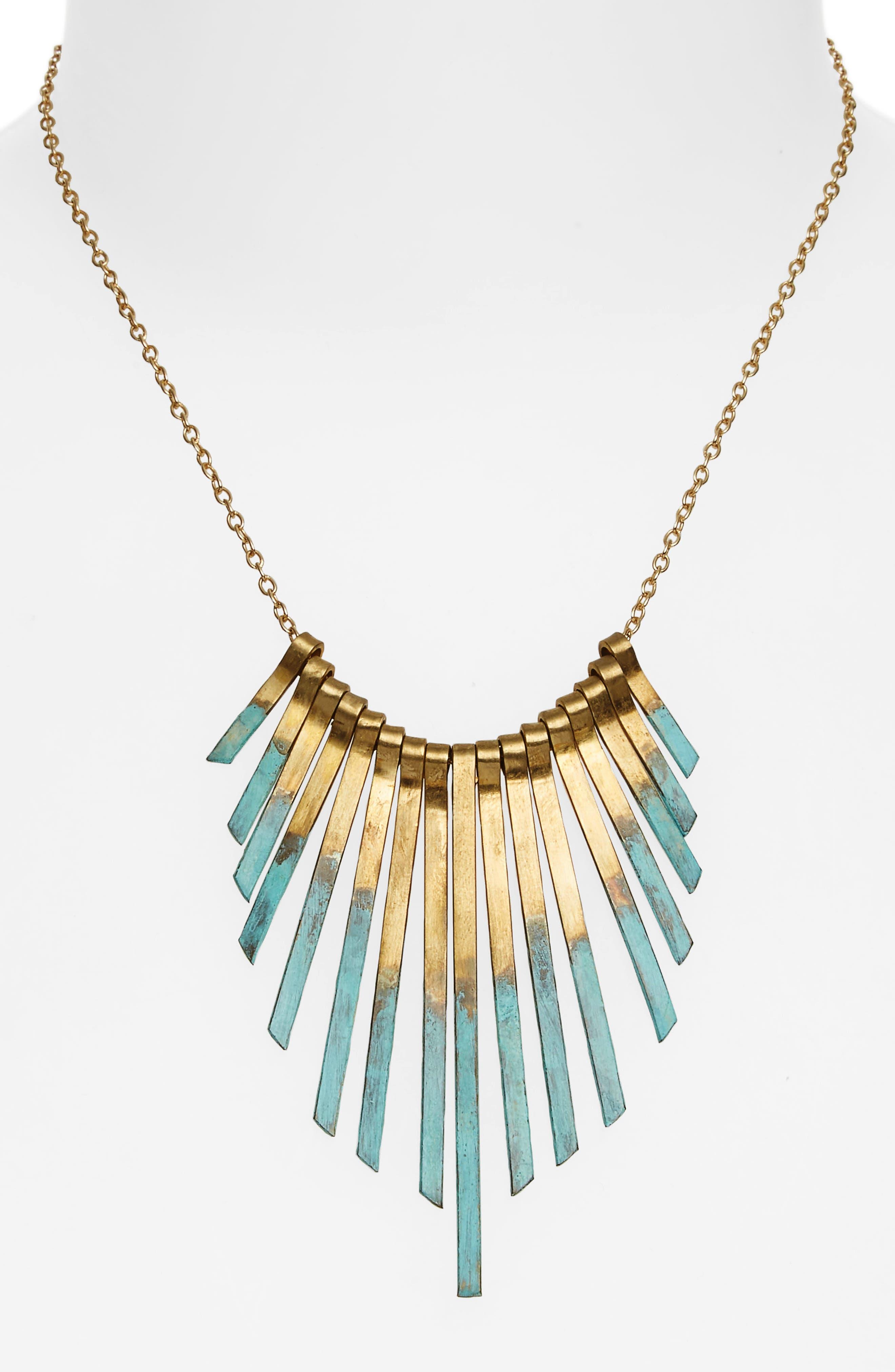 Patina Stick Necklace,                             Alternate thumbnail 2, color,                             710