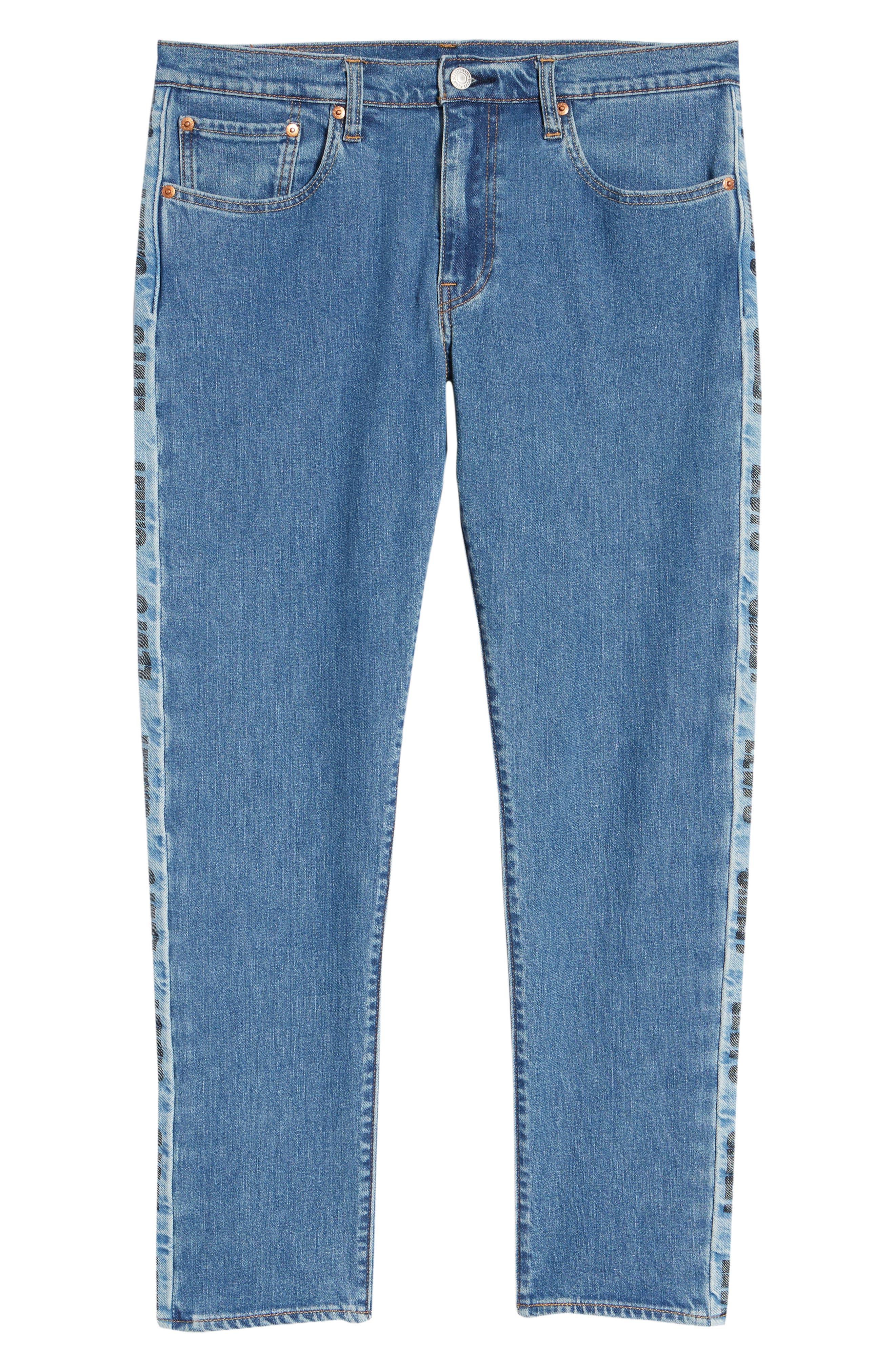 Hi-Ball Straight Leg Jeans,                             Alternate thumbnail 6, color,                             MEDIUM BLUE