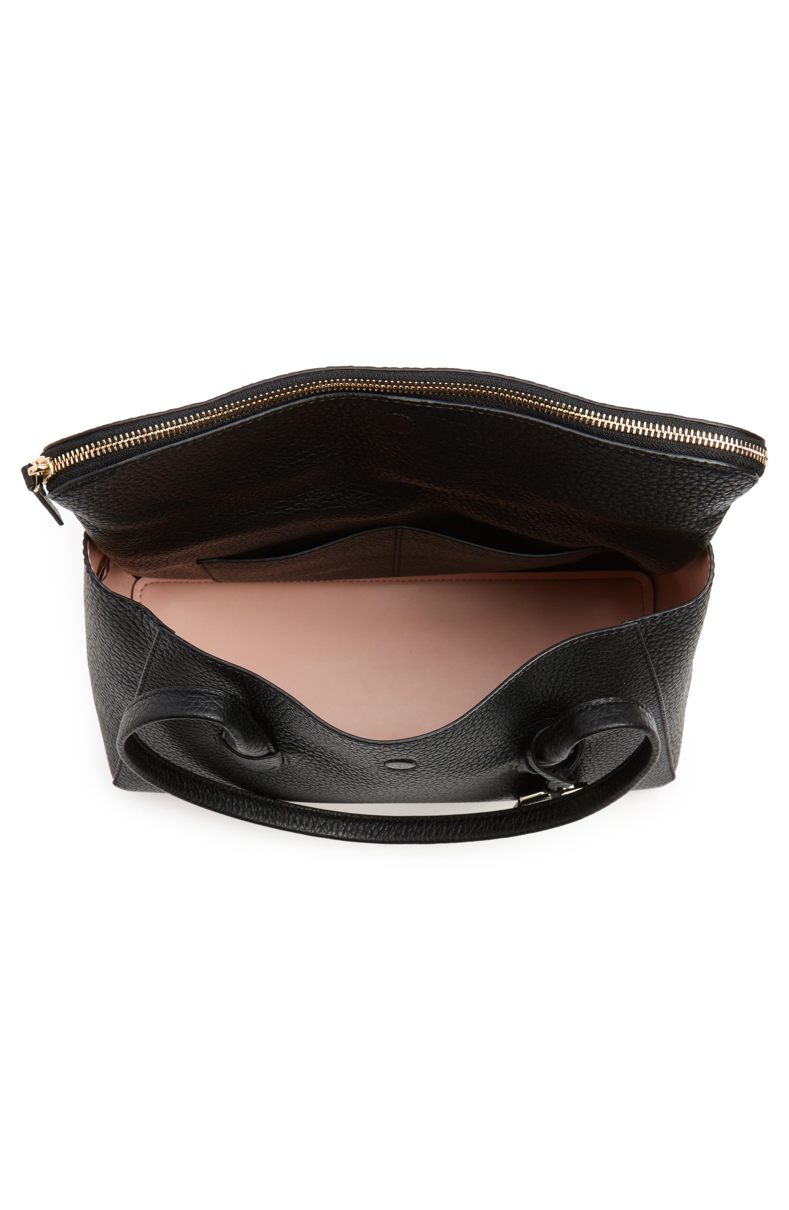 carter street - laurelle leather tote,                             Alternate thumbnail 4, color,                             001