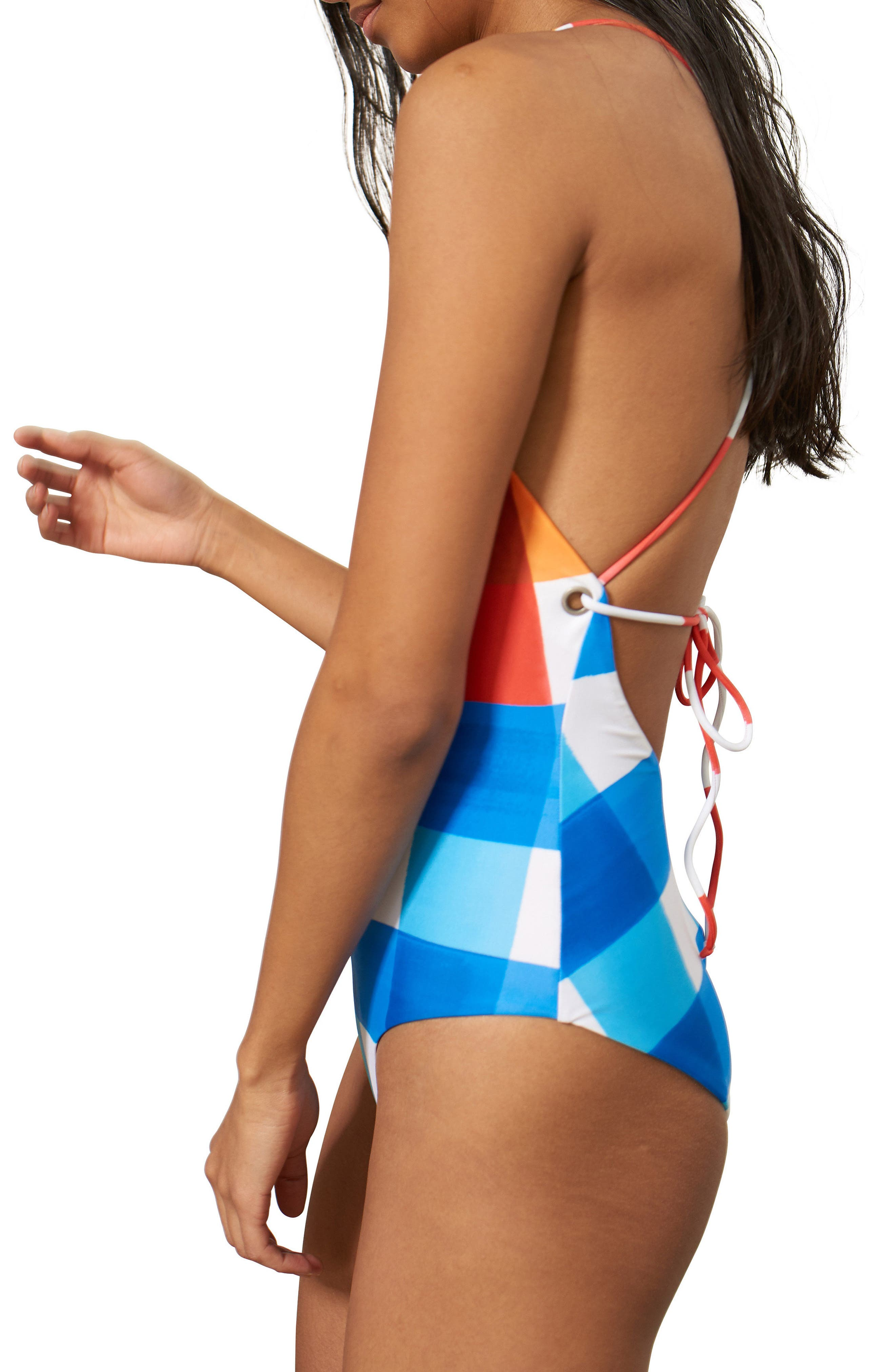 Olympia One-Piece Swimsuit,                             Alternate thumbnail 3, color,                             605