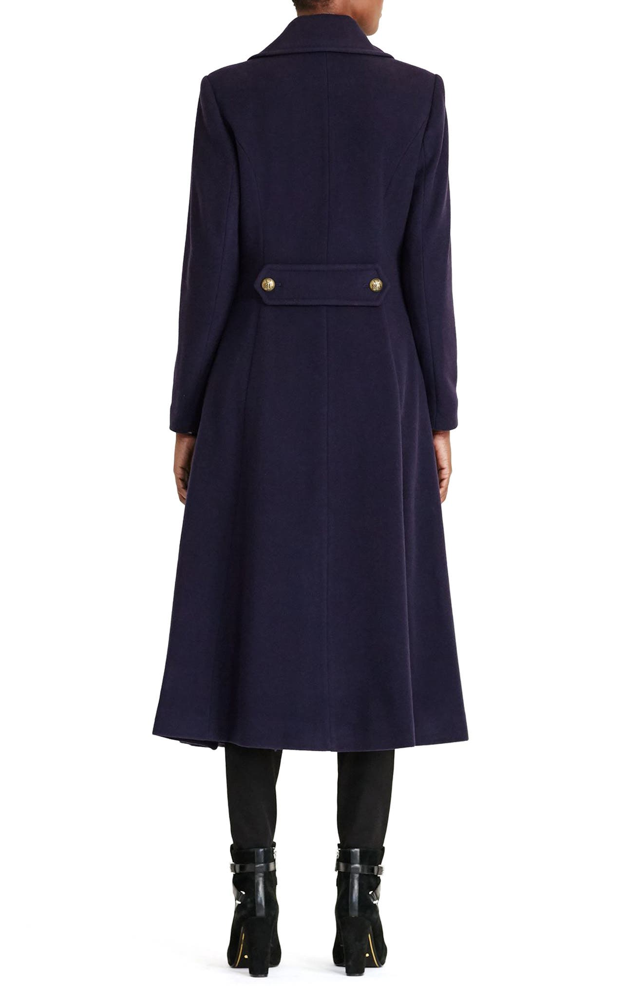 Double Breasted Military Maxi Coat,                             Alternate thumbnail 2, color,                             415