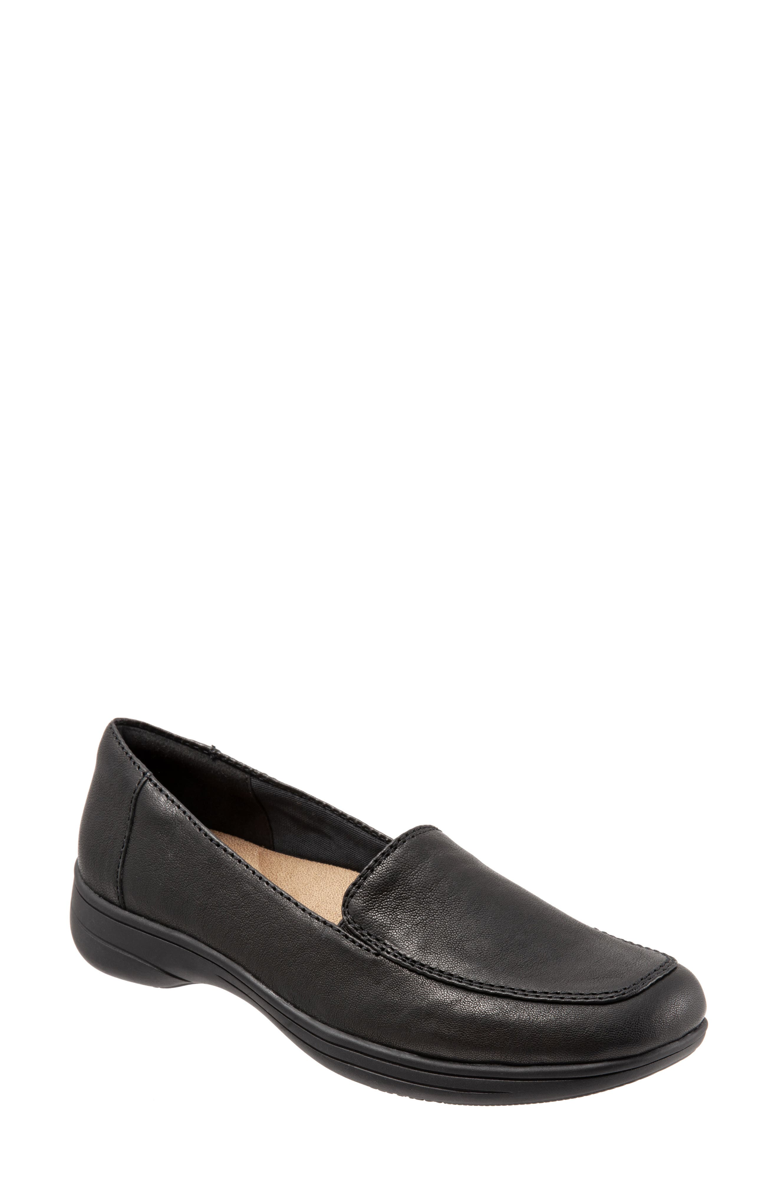 Jacob Loafer,                             Main thumbnail 1, color,                             BLACK LEATHER