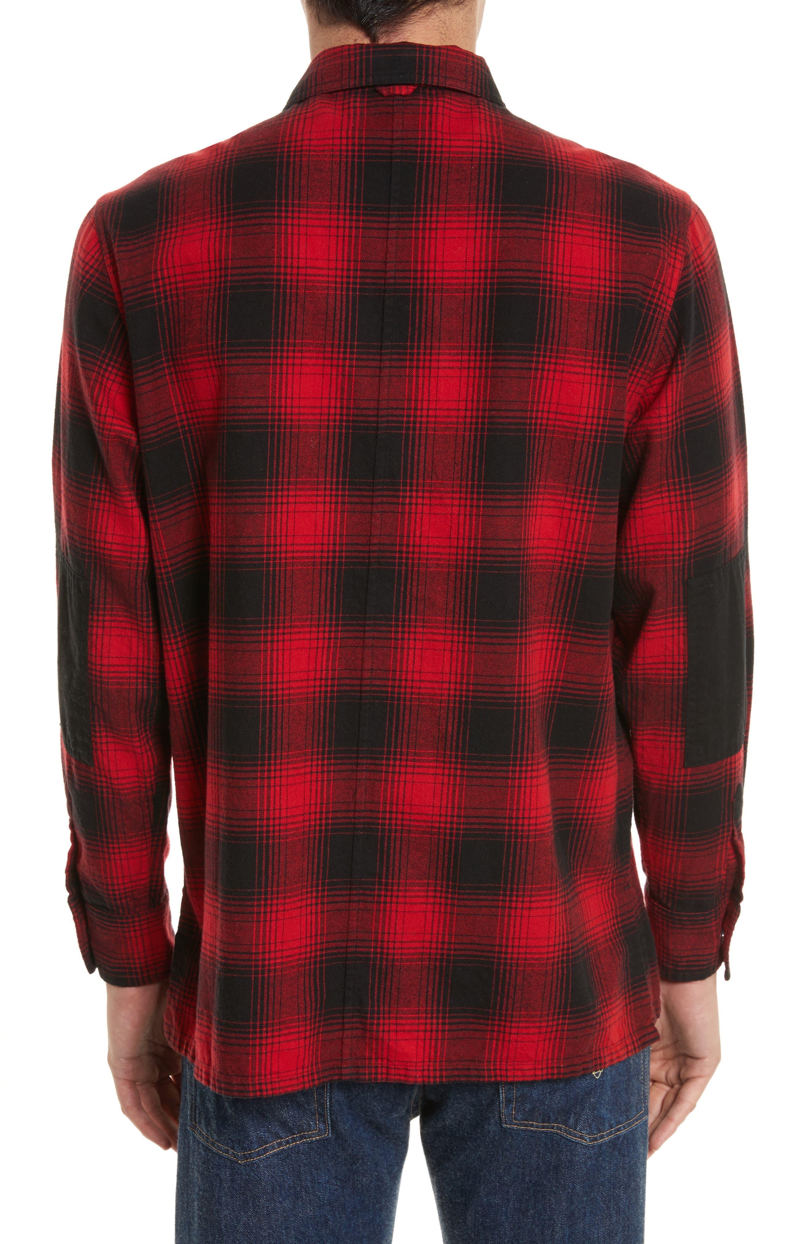 Plaid Flannel Shirt,                             Alternate thumbnail 2, color,                             600