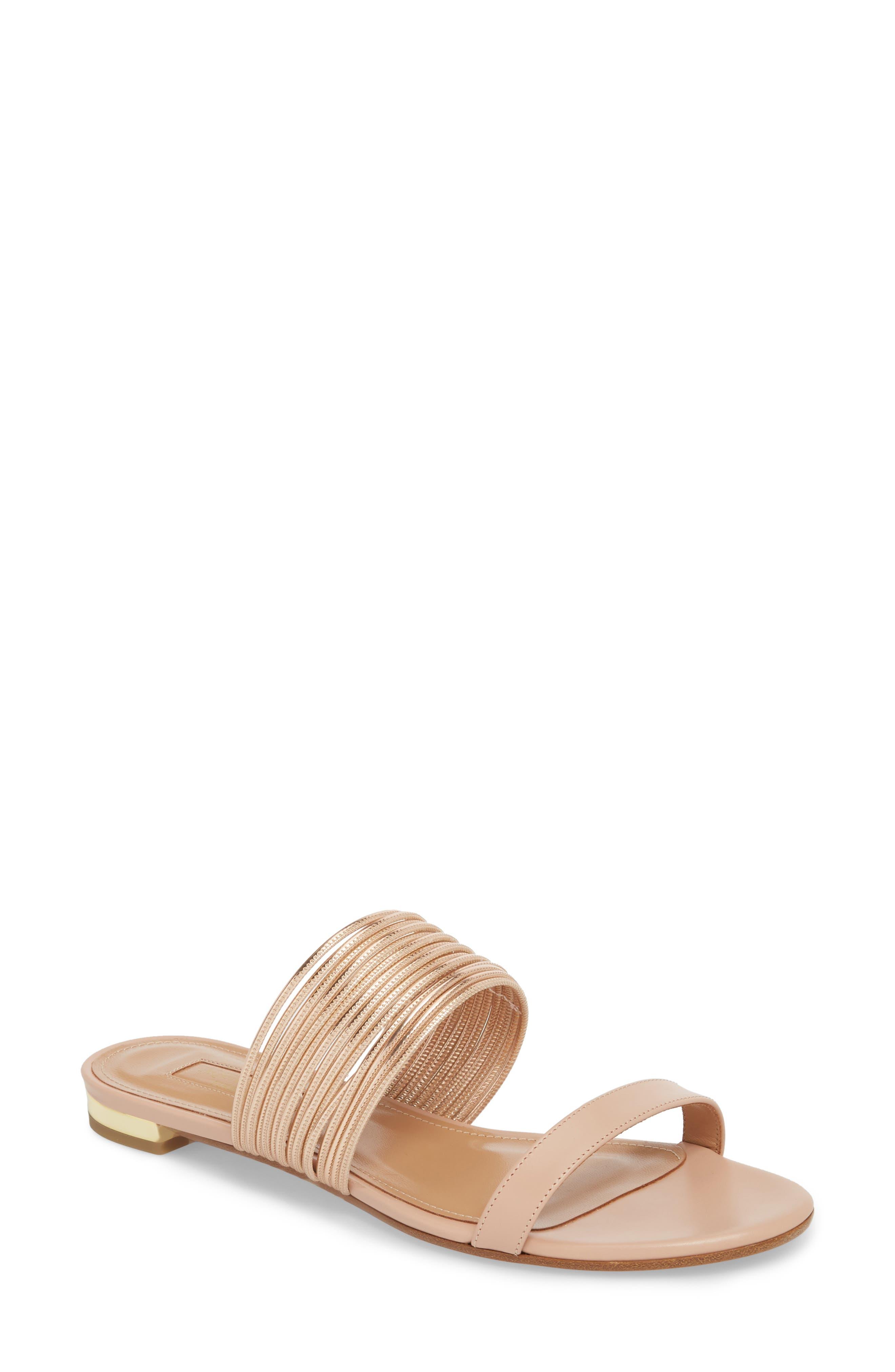 Rendezvous Metallic Sandal,                         Main,                         color, POWDER PINK/CIPRIA