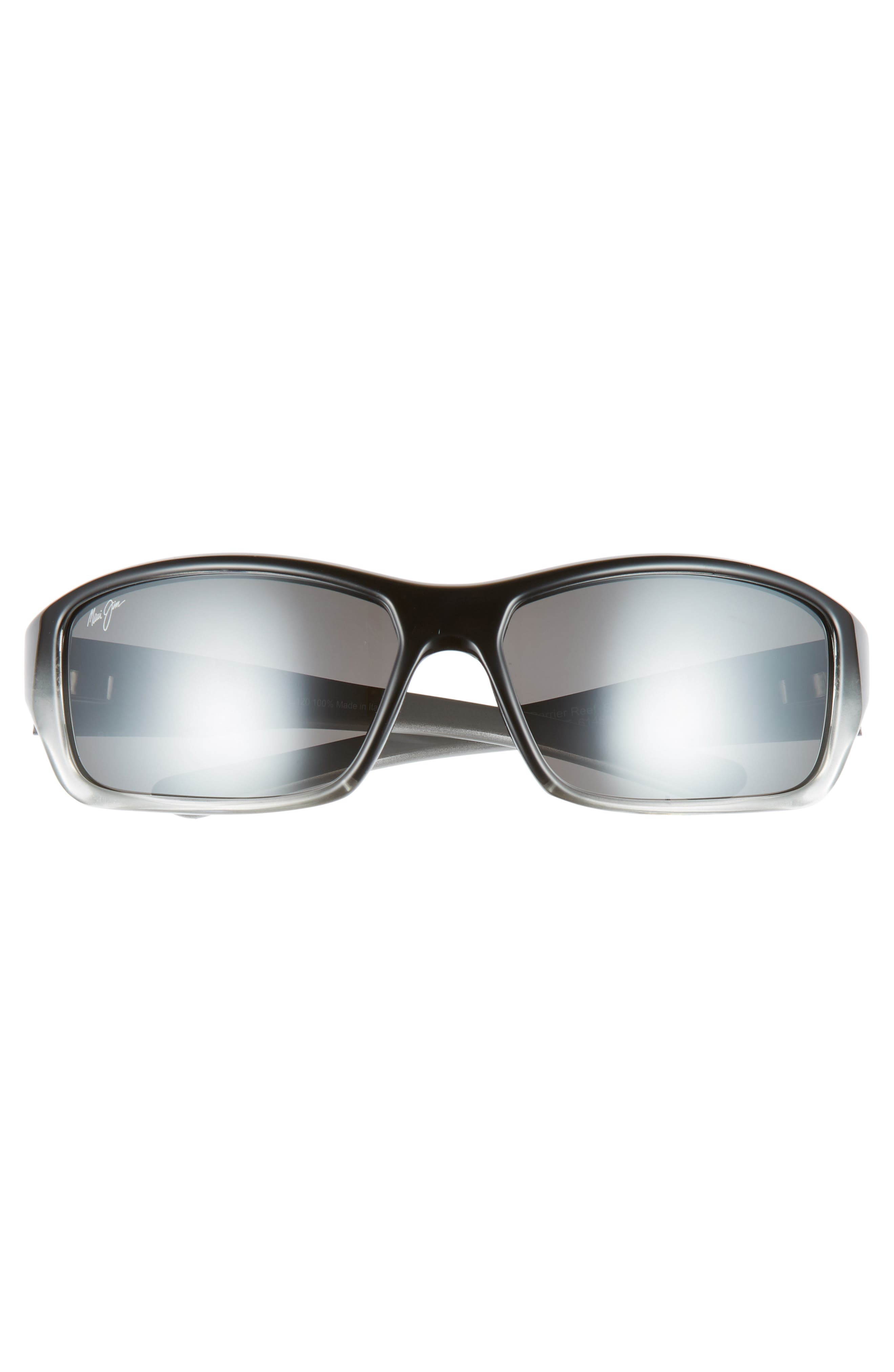 MAUI JIM,                             Barrier Reef 62mm PolarizedPlus2<sup>®</sup> Sunglasses,                             Alternate thumbnail 3, color,                             BLACK/ GREY