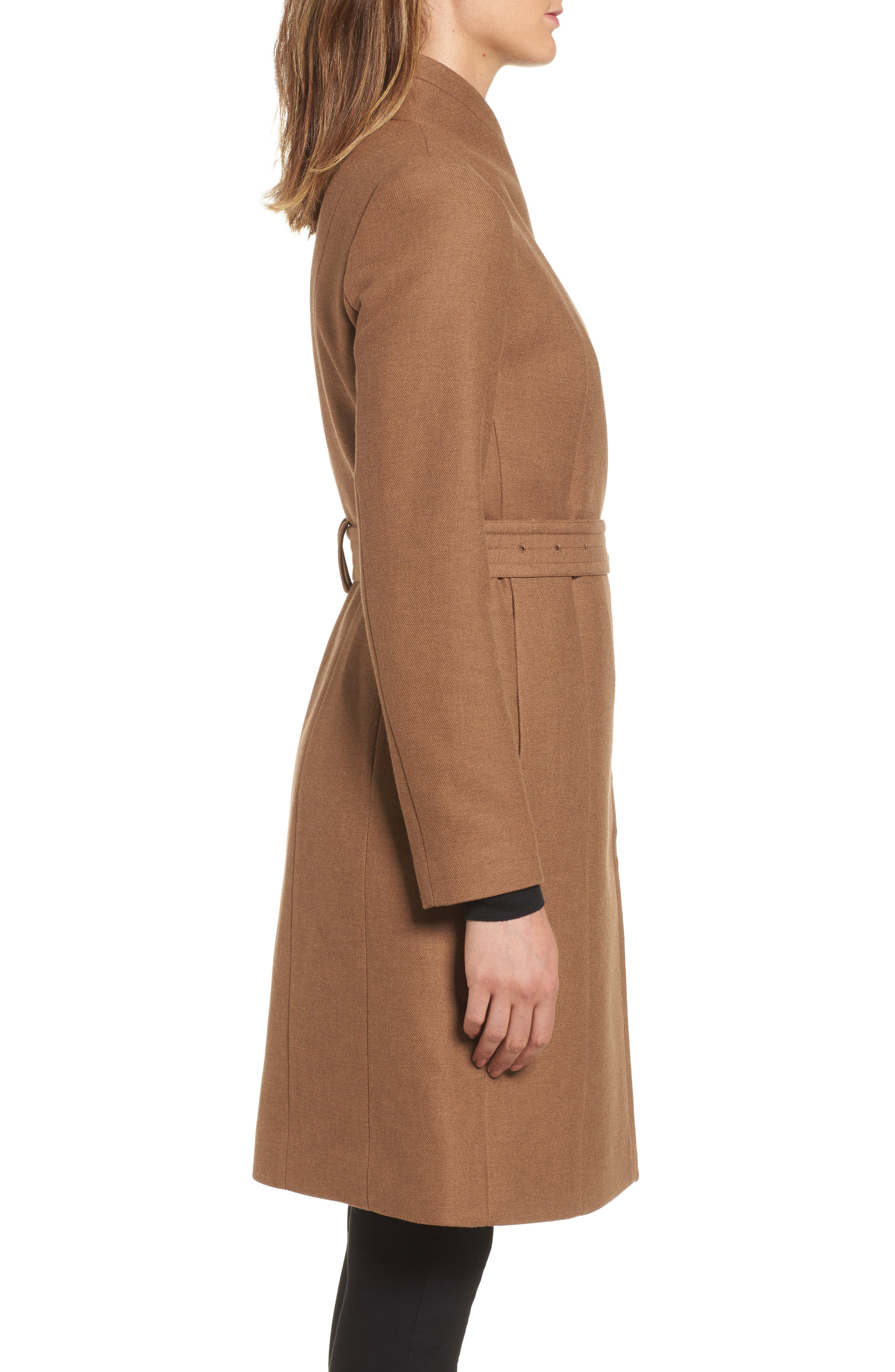 Belted Double Breasted Coat,                             Alternate thumbnail 3, color,                             252