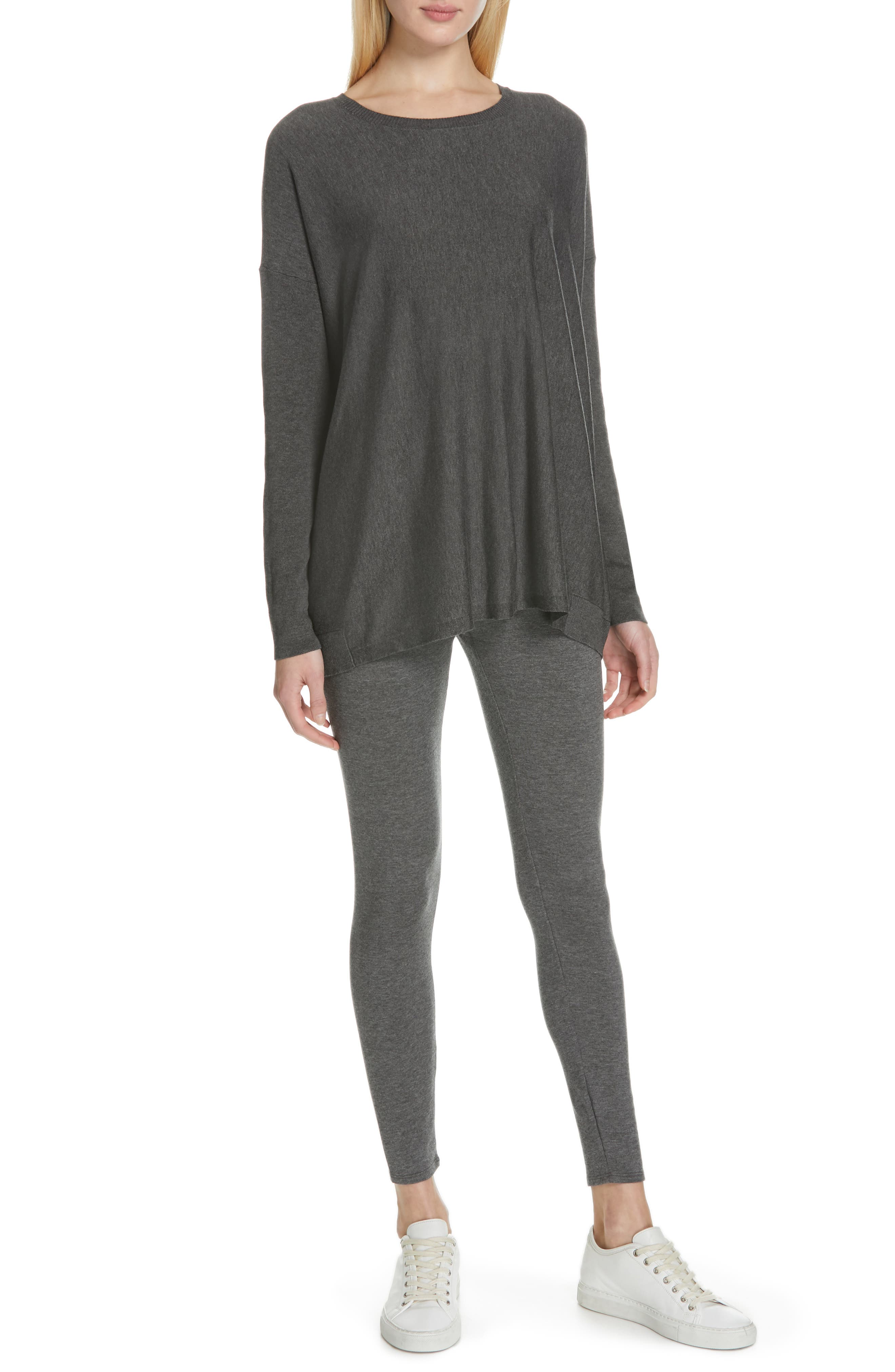 EILEEN FISHER, Tencel<sup>®</sup> Lyocell Blend Sweater, Alternate thumbnail 7, color, 030