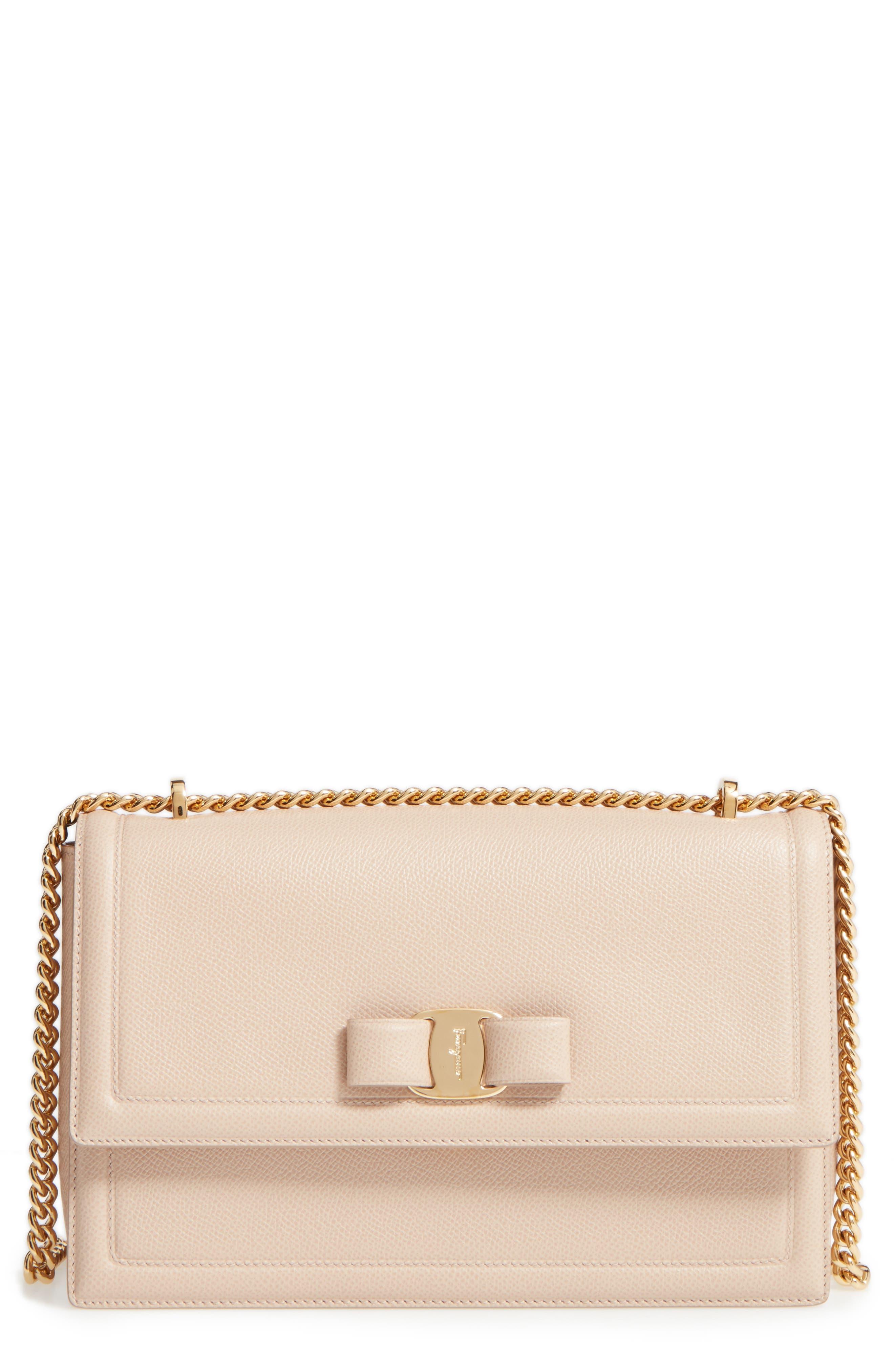 Medium Leather Shoulder Bag,                             Main thumbnail 1, color,
