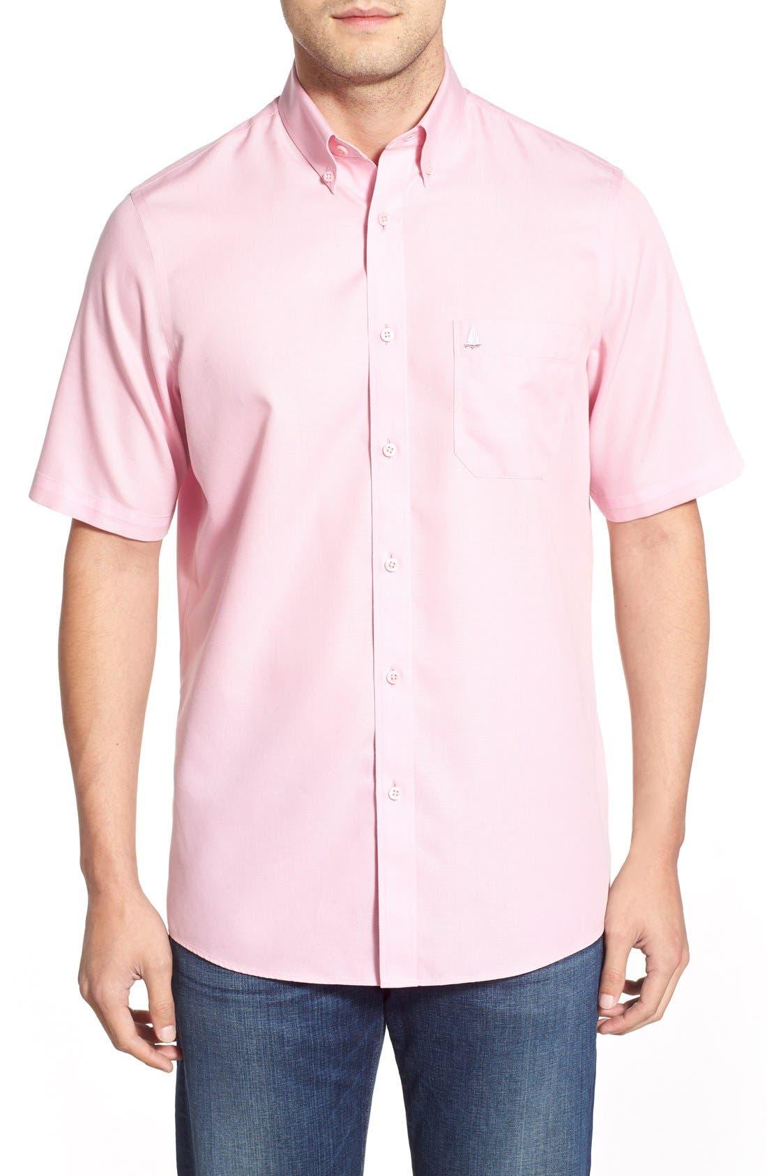'Classic' Smartcare<sup>™</sup> Regular Fit Short Sleeve Cotton Sport Shirt,                             Main thumbnail 24, color,