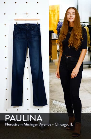 Manhattan High Waist Bootcut Jeans, sales video thumbnail