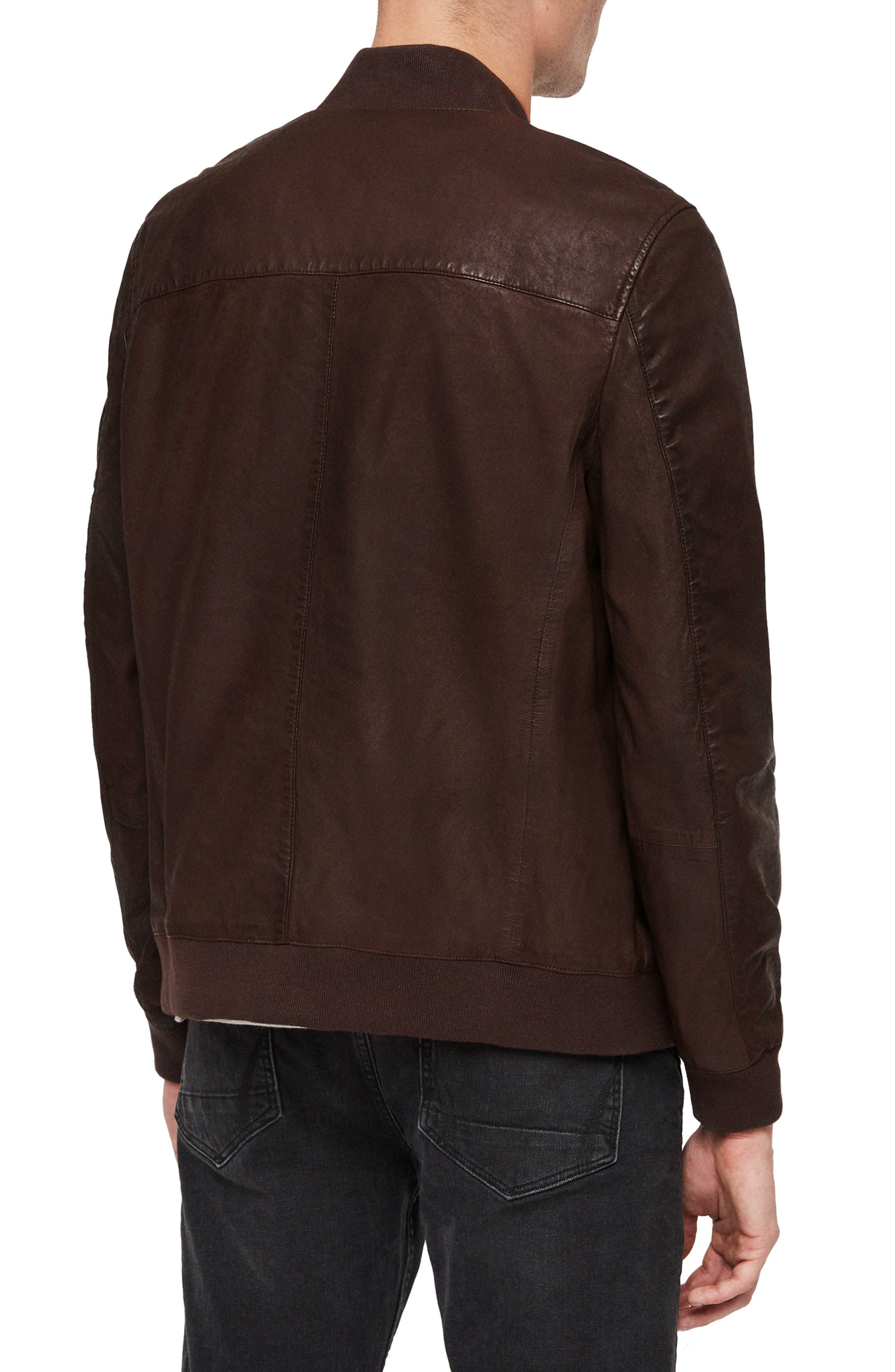Kino Leather Bomber Jacket,                             Alternate thumbnail 2, color,                             OXBLOOD