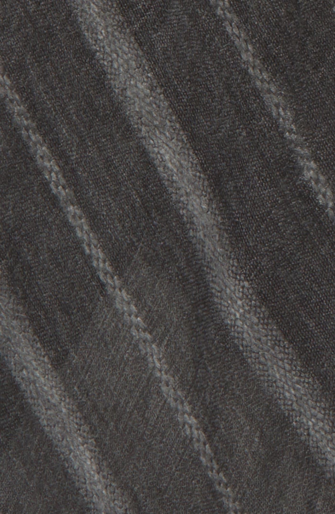 TREASURE & BOND,                             Solid Ribbed Wrap Scarf,                             Alternate thumbnail 4, color,                             BLACK